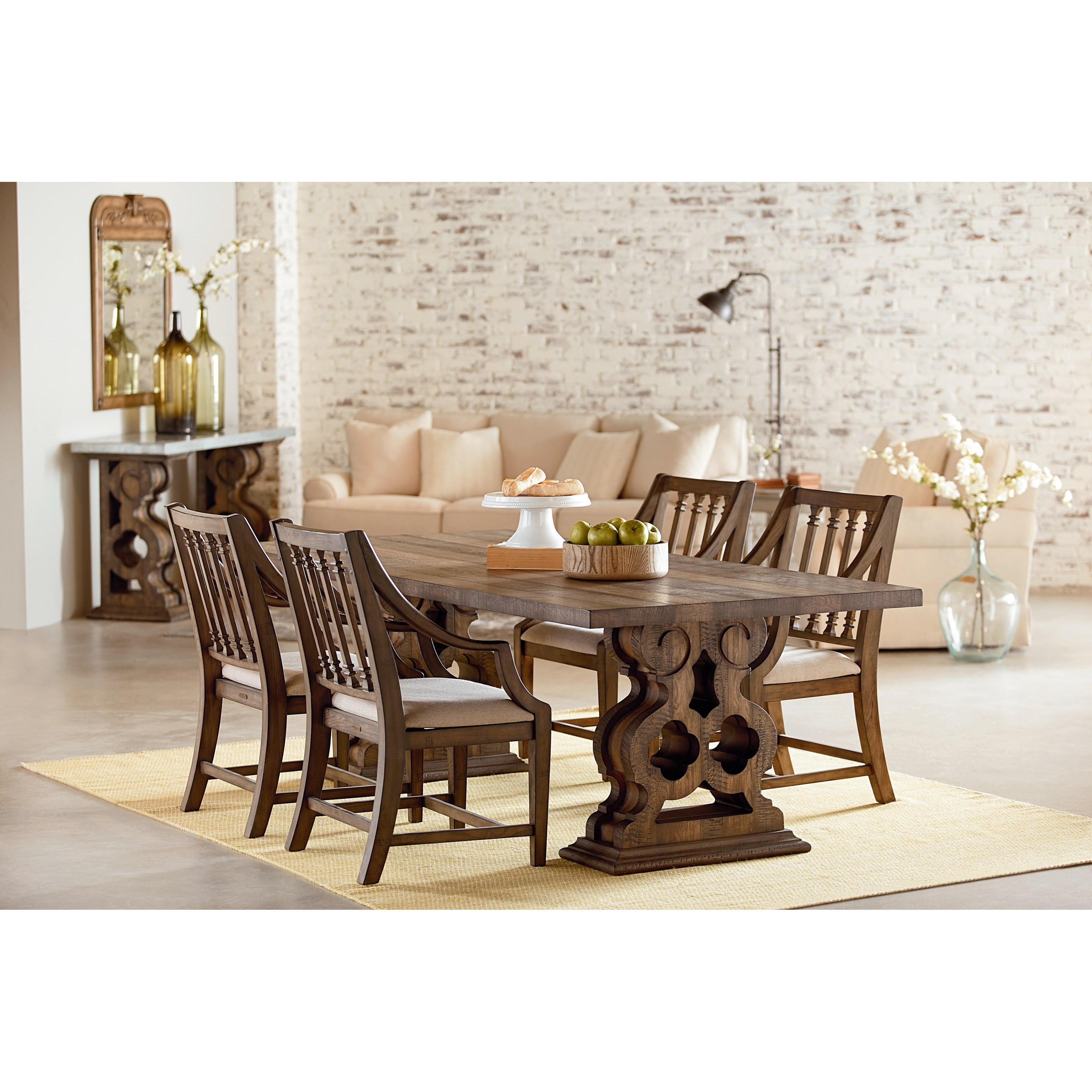 Magnolia home by joanna gaines traditional dining room for Traditional dining table