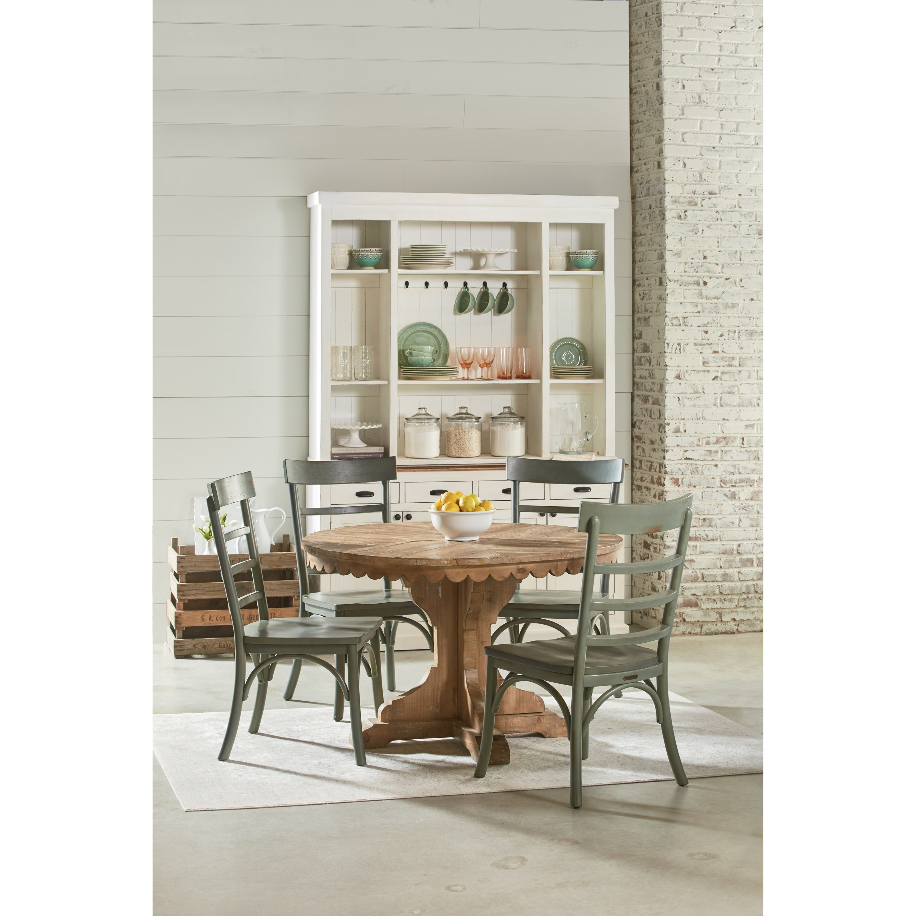 Magnolia Home By Joanna Gaines Farmhouse Five Piece Round Table And Chair Set Olinde 39 S