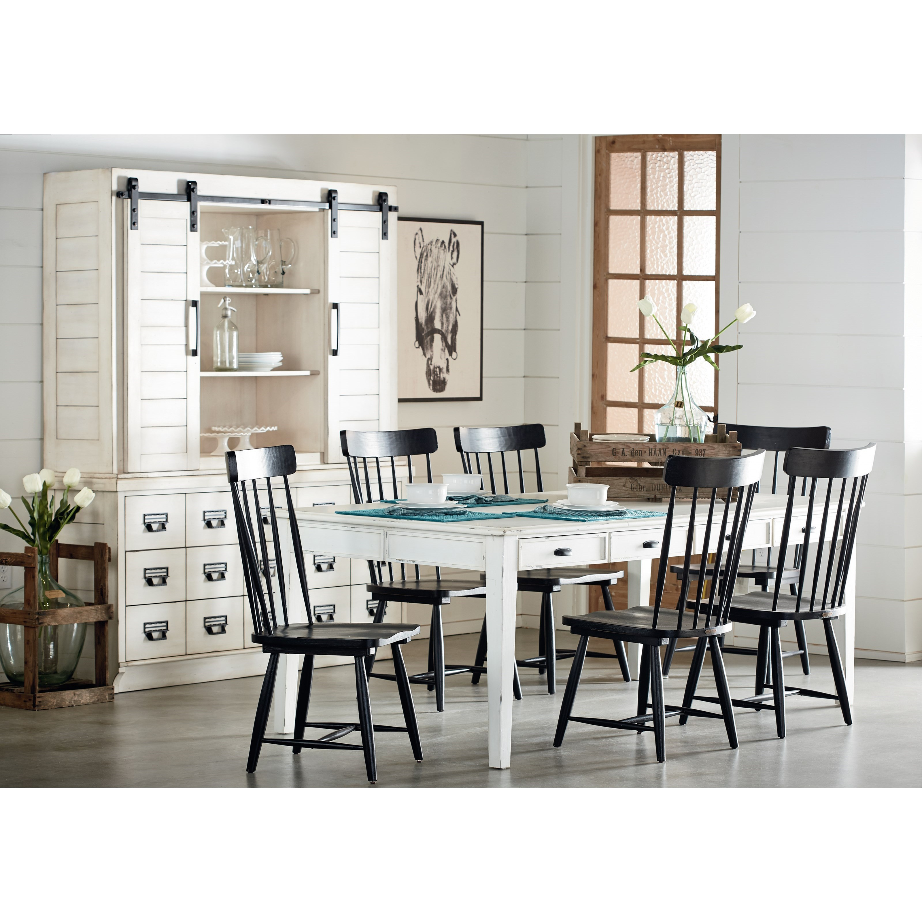 Magnolia home by joanna gaines farmhouse kitchen dining for Dining room joanna gaines