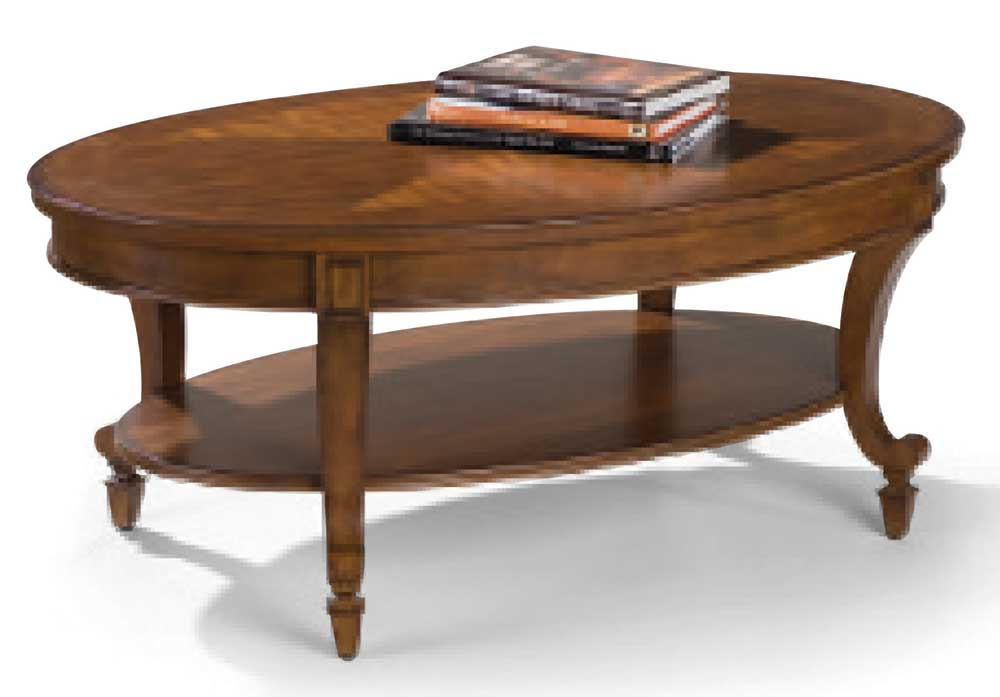 Aidan oval cocktail table with shelf morris home cocktail or coffee table Morris home furniture hours