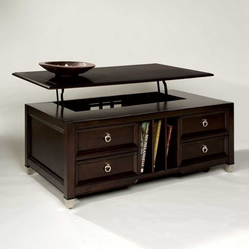 Magnussen home darien lift top cocktail table homeworld furniture cocktail coffee tables Home furniture coffee tables