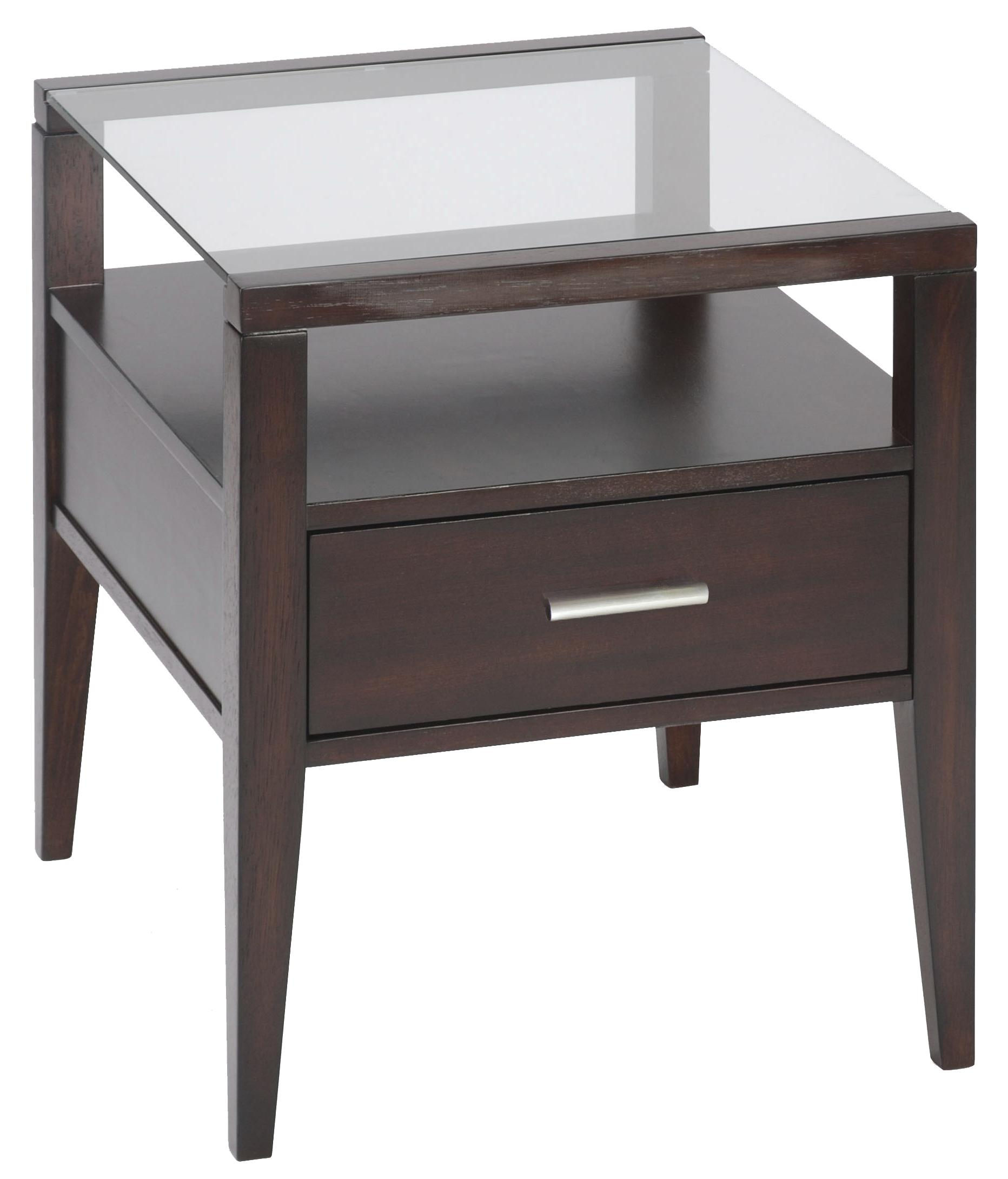 Magnussen Home Baker Contemporary End Table With Drawer Sheely 39 S Furniture Appliance End Table