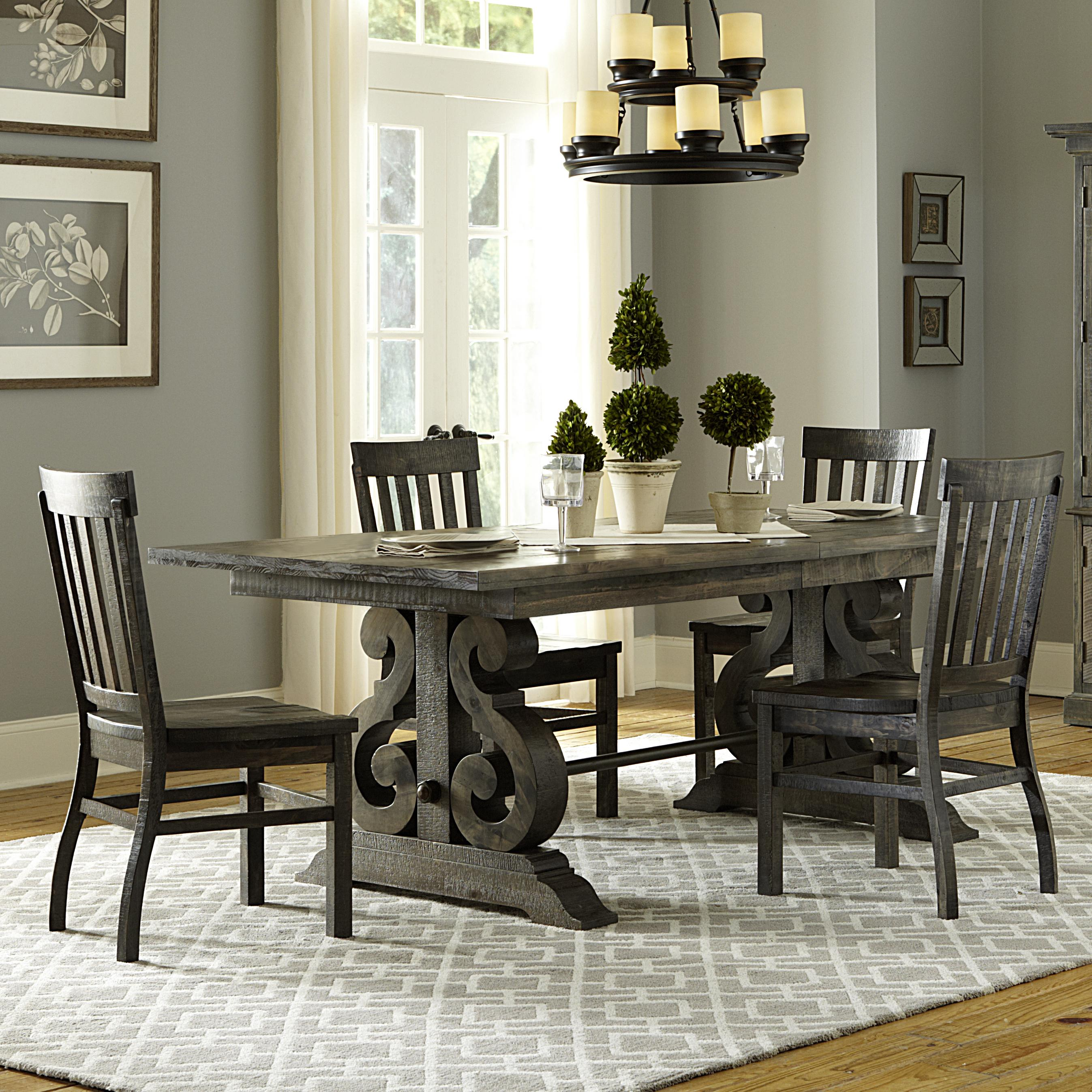 magnussen home bellamy transitional five piece weathered