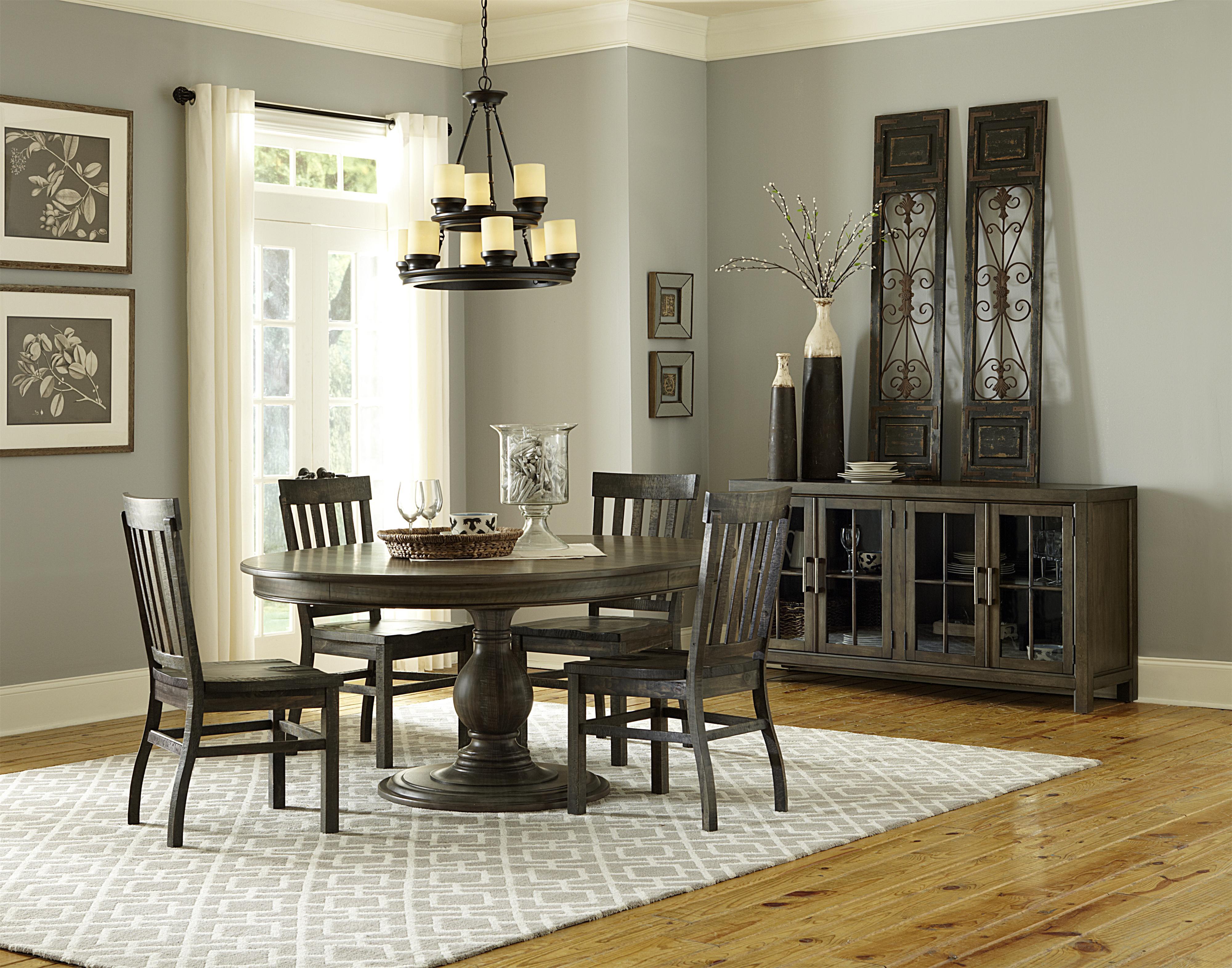 magnussen home bellamy transitional weathered gray dining side chair olinde 39 s furniture. Black Bedroom Furniture Sets. Home Design Ideas