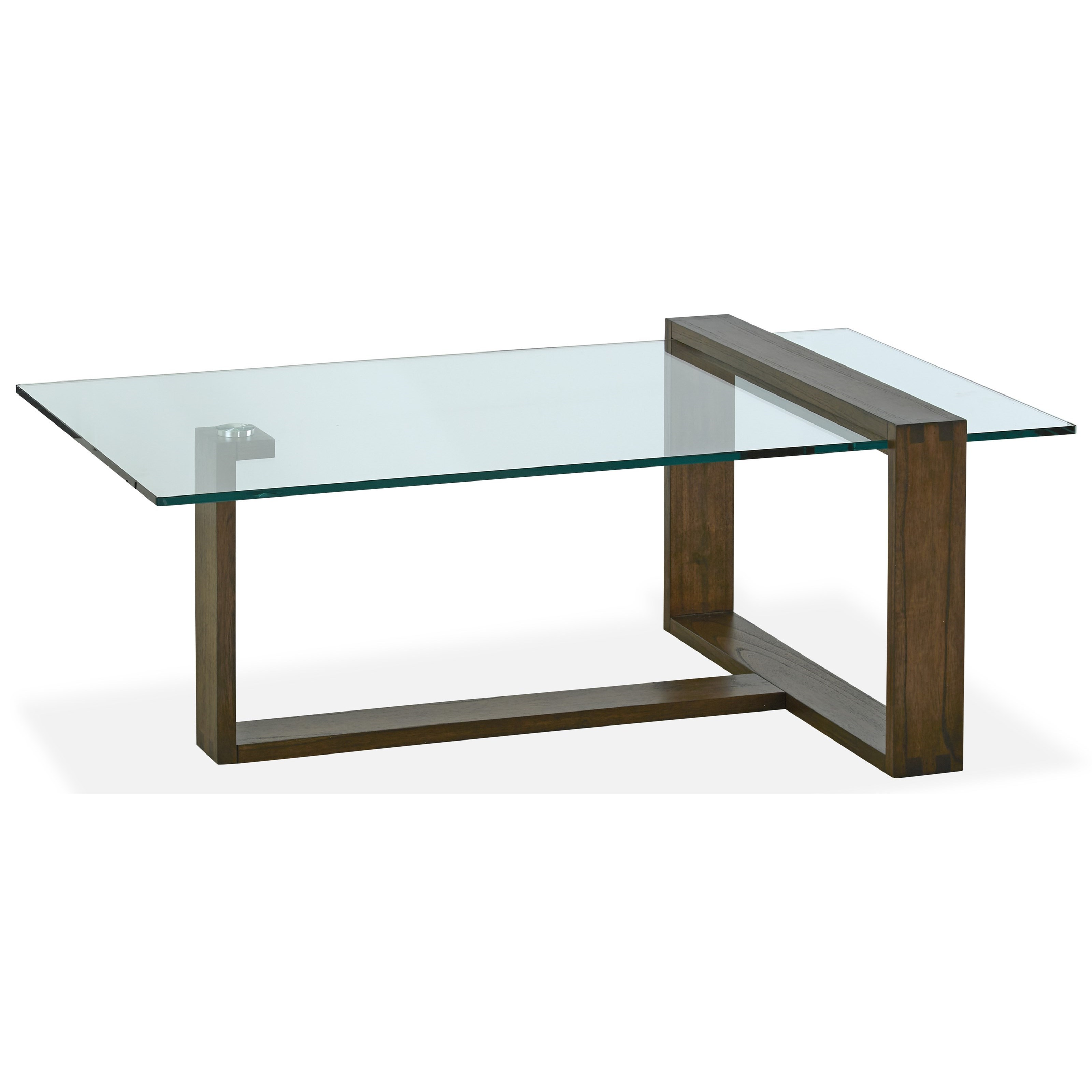 magnussen home bristow contemporary rectangular cocktail table with glass top darvin furniture. Black Bedroom Furniture Sets. Home Design Ideas