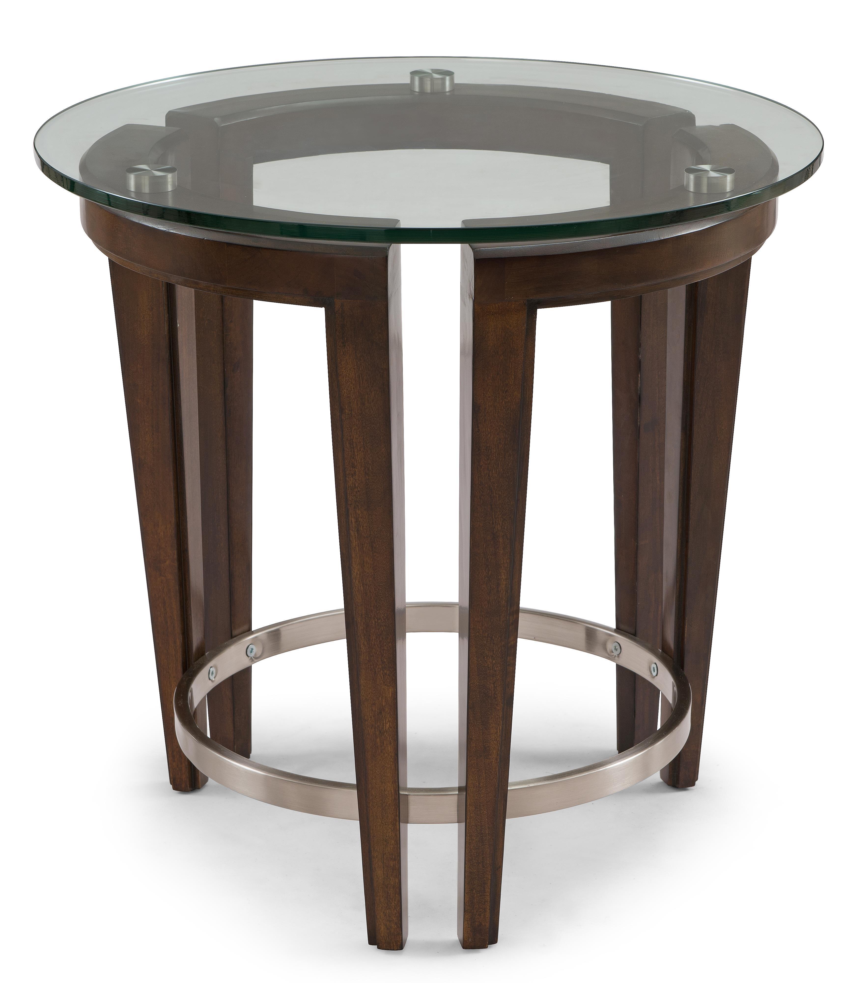 belfort select carmen contemporary wood and glass round end table belfort furniture end tables. Black Bedroom Furniture Sets. Home Design Ideas