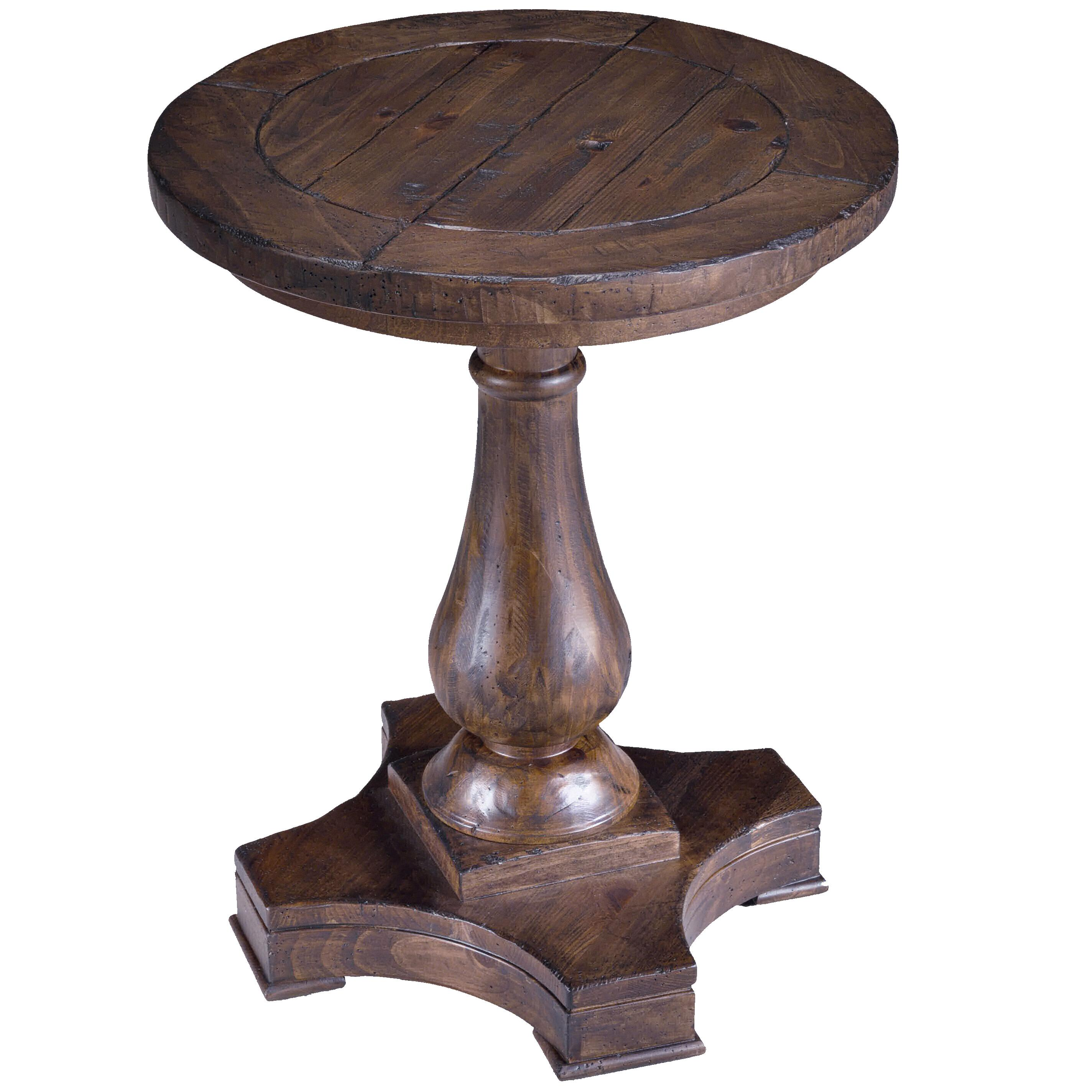 densbury round column pedestal accent end table by