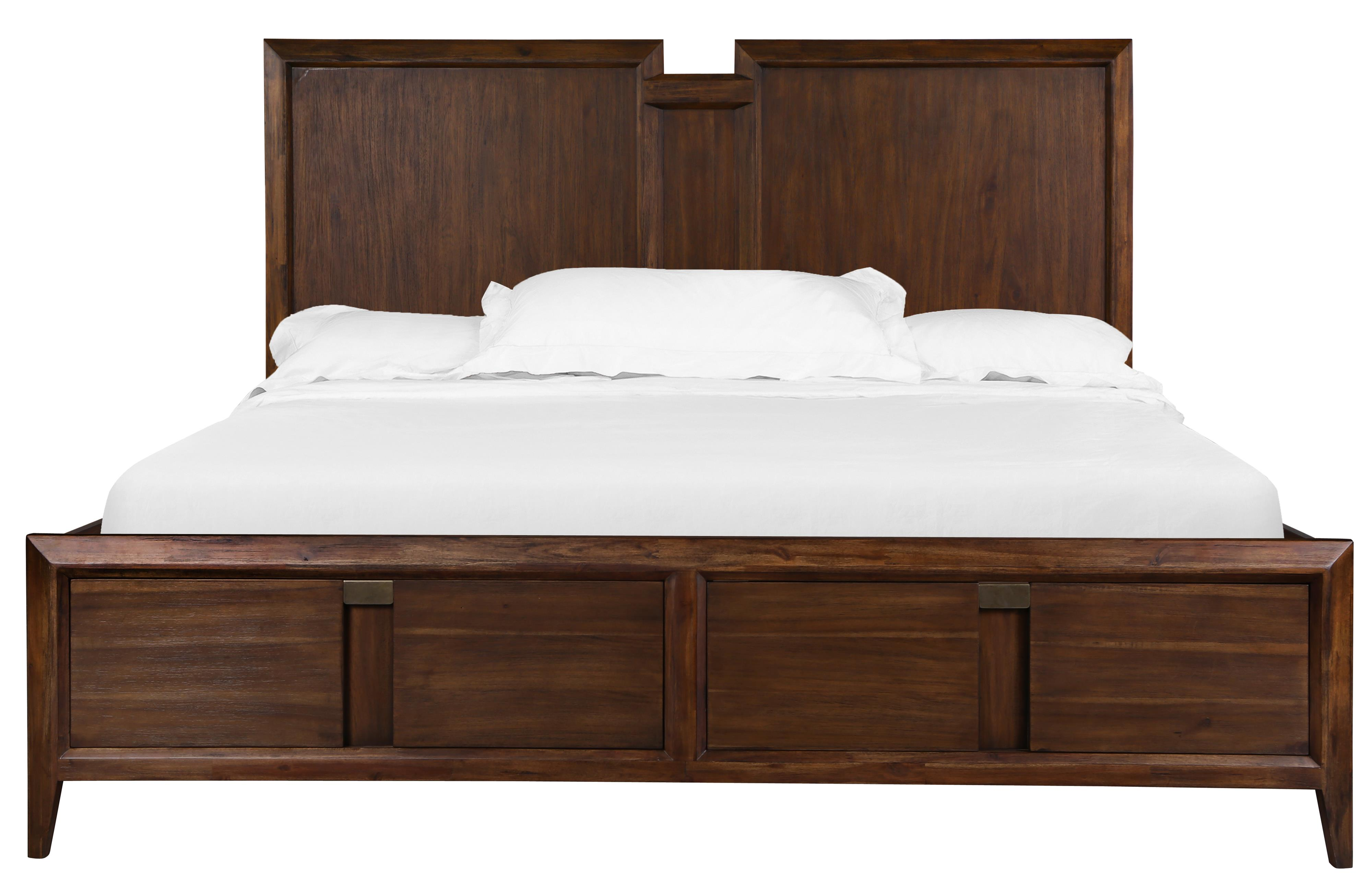 Magnussen home echo complete queen panel bed with storage for Bedroom furniture 30144