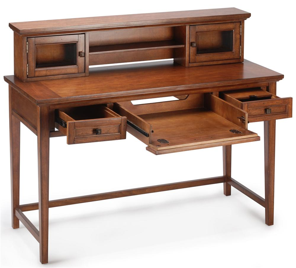 Magnussen home harbor bay t1392 90 sofa table desk with 3 for Sofa table with drawers and doors