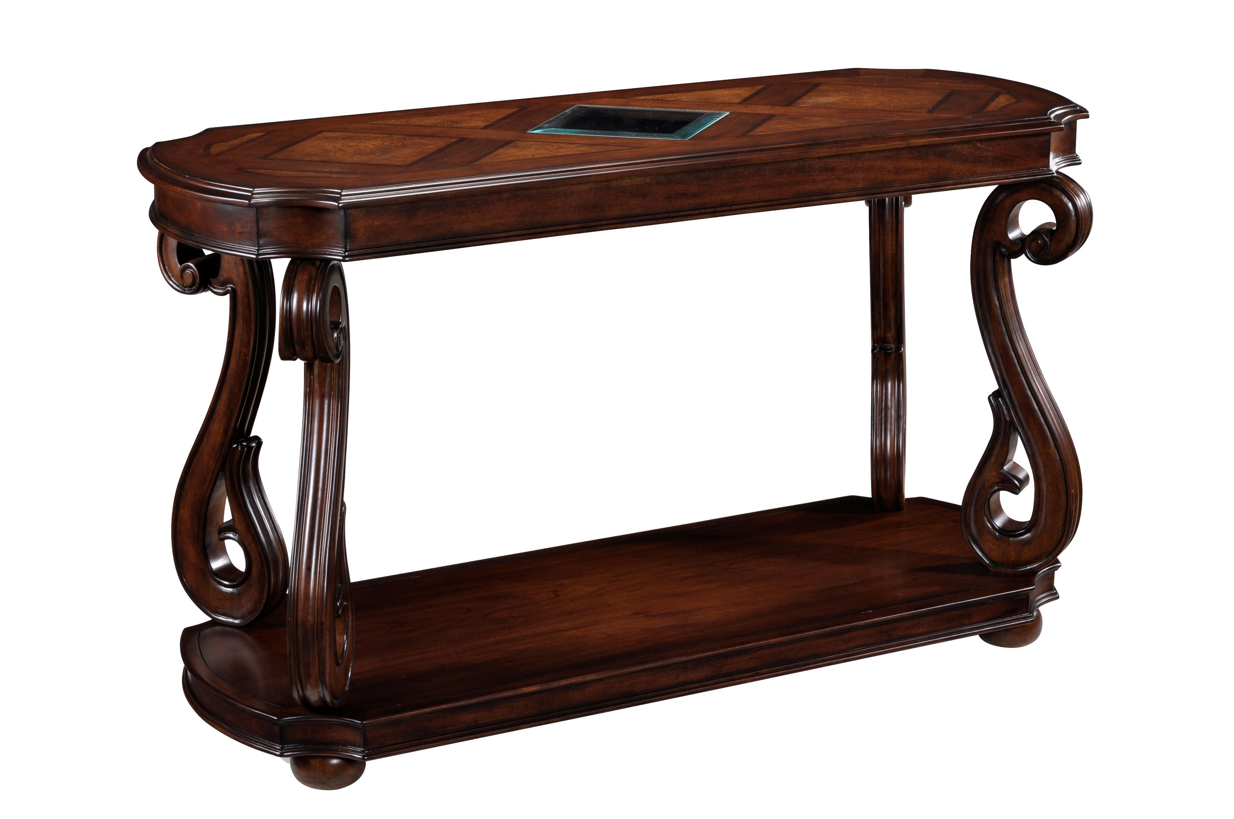 Magnussen home harcourt rectangular sofa table boulevard for Sofa table rules