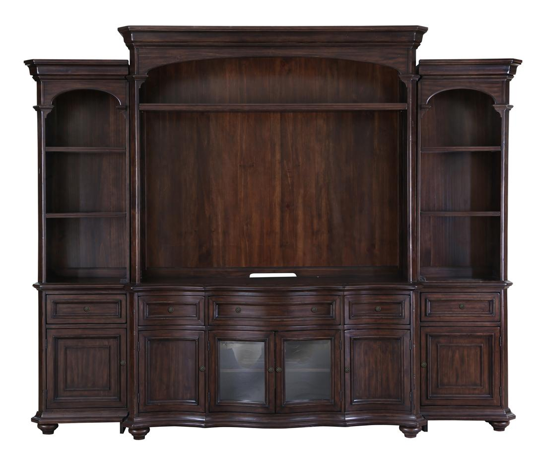 kessington traditional entertainment wall unit with wire