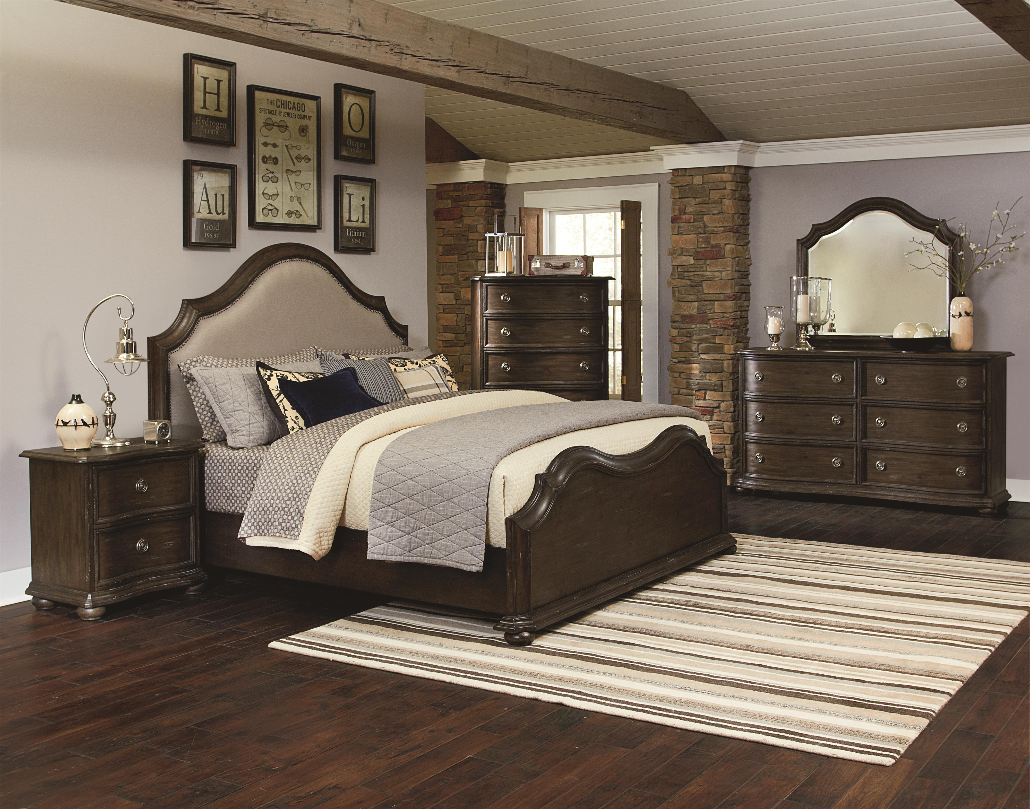 Magnussen home muirfield bedroom traditional bowed front - Bright house bedroom furniture ...