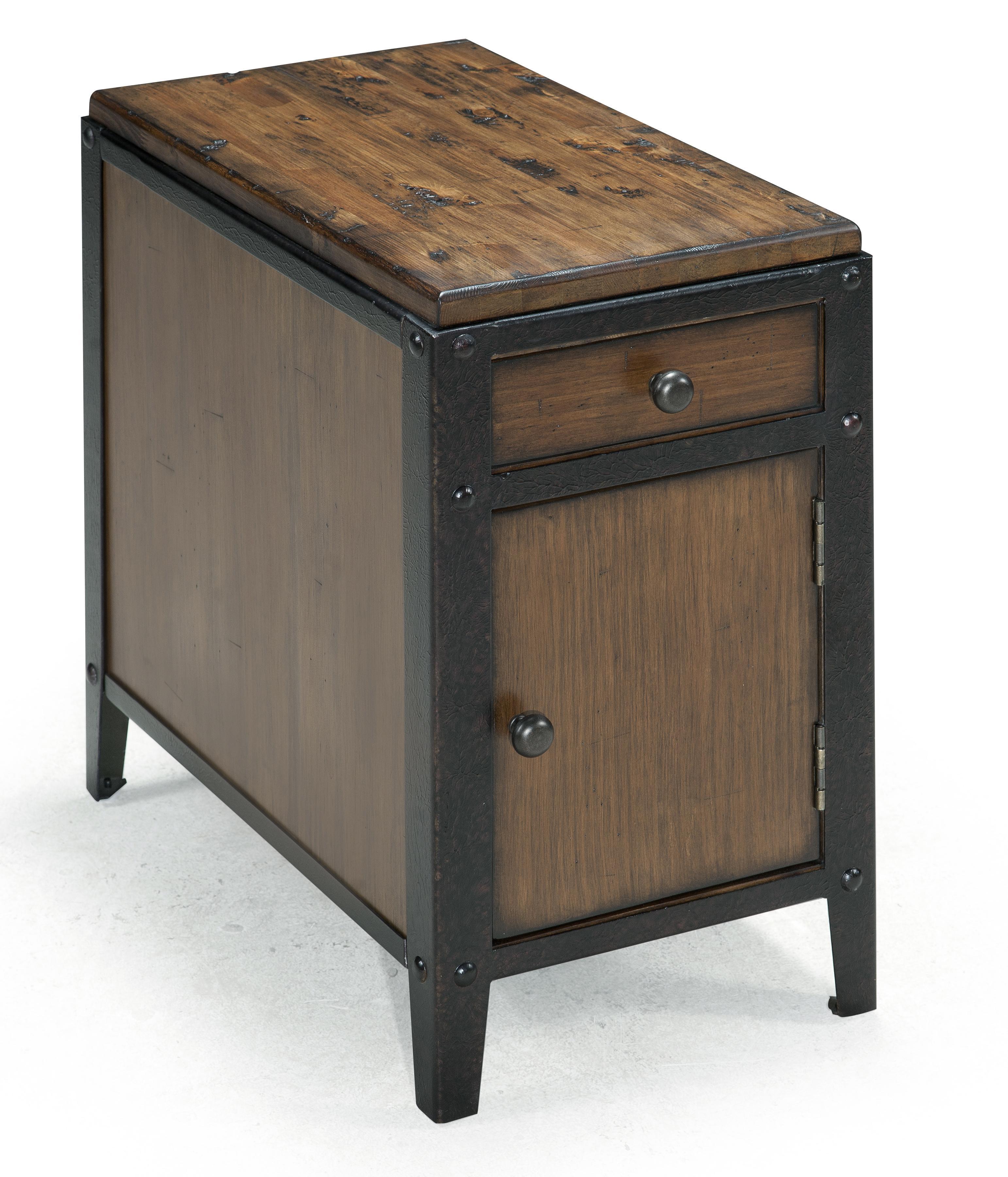 magnussen home pinebrook chairside door end table with