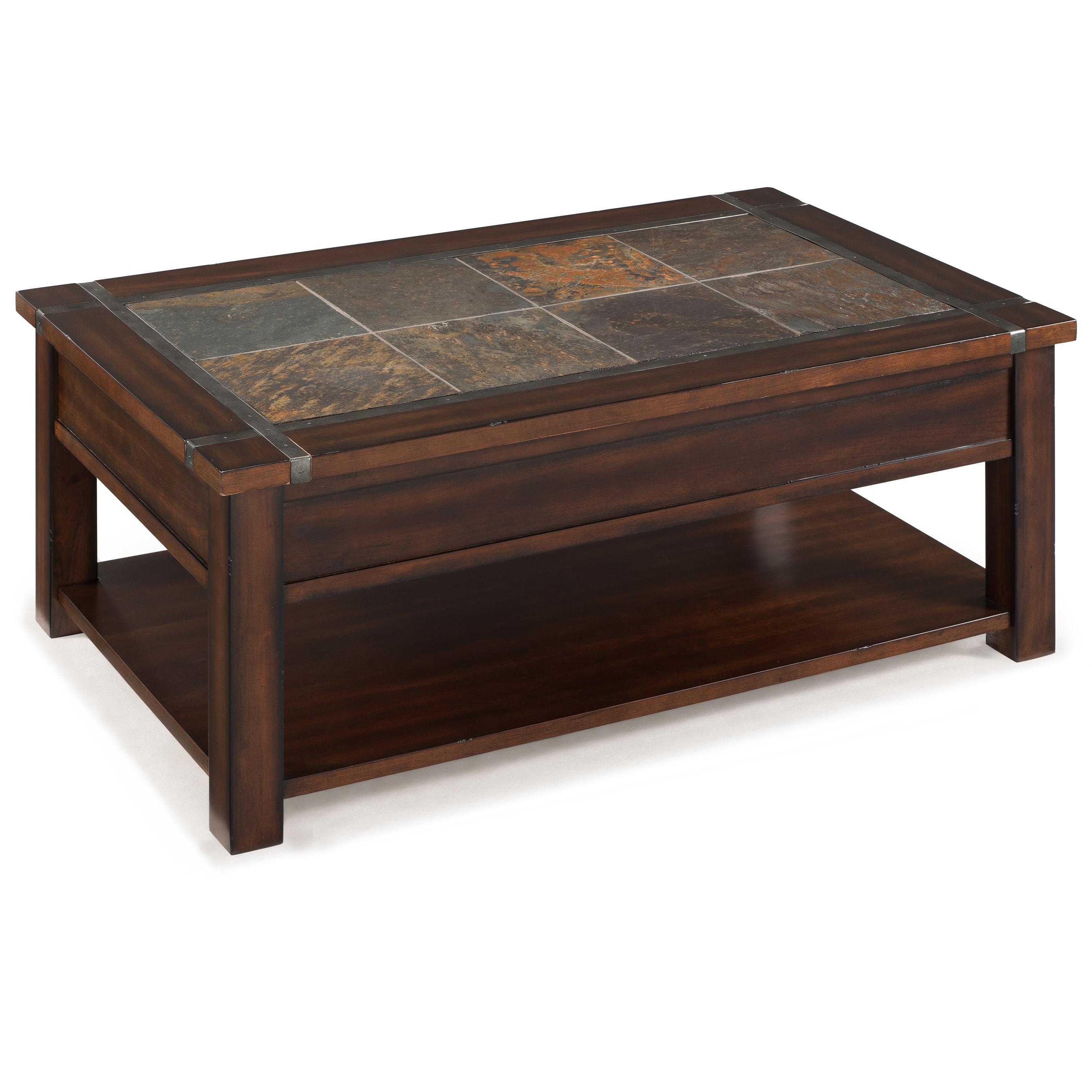 Magnussen Home Roanoke T2615 50 Rectangular Lift Top Cocktail Table With Casters And Shelf