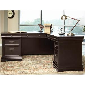 Martin Home Furnishings Beaumont Kneehole Credenza w 7