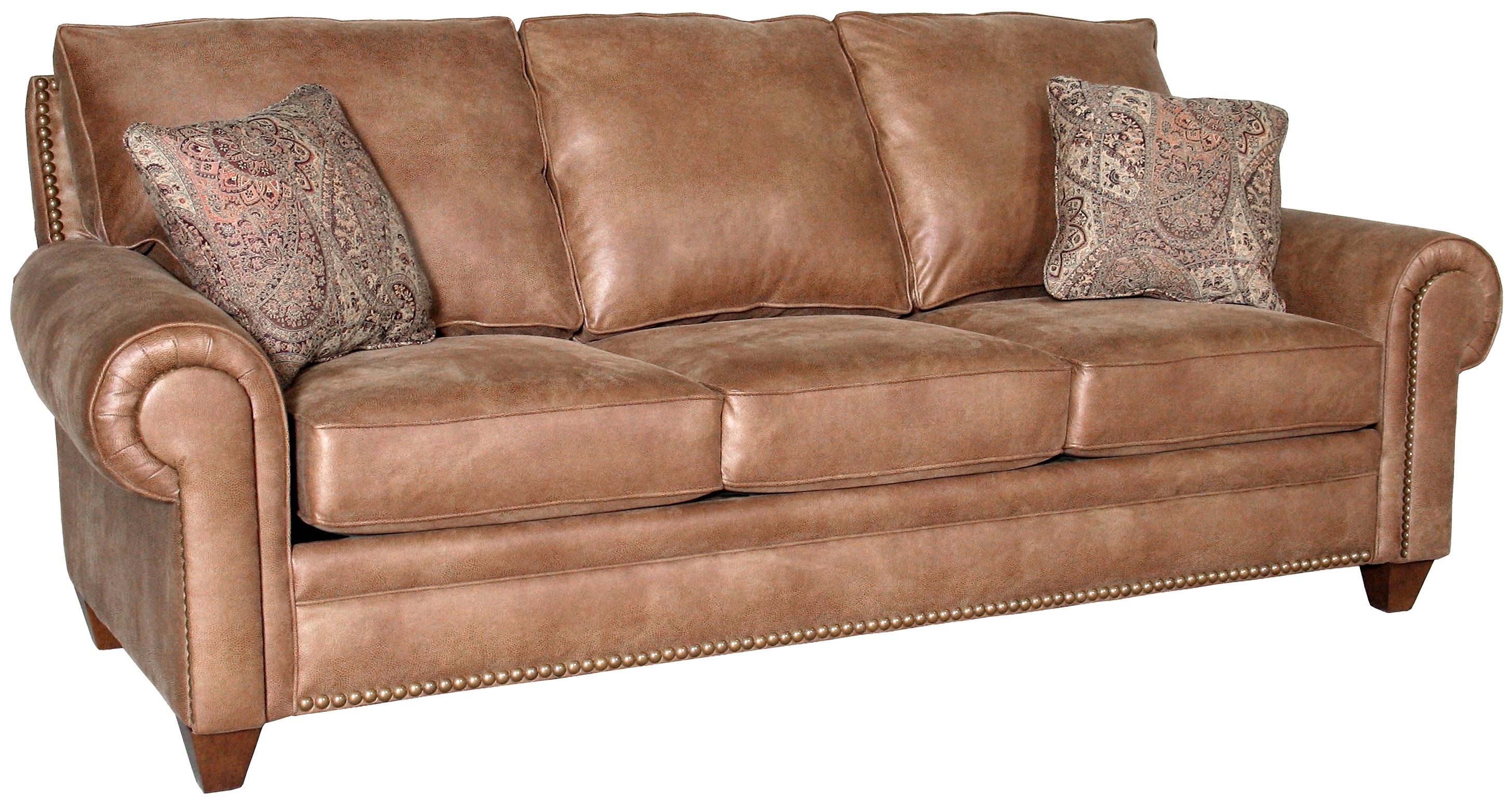 Mayo 2840 traditional stationary sofa with tapered legs for Traditional sofas with legs