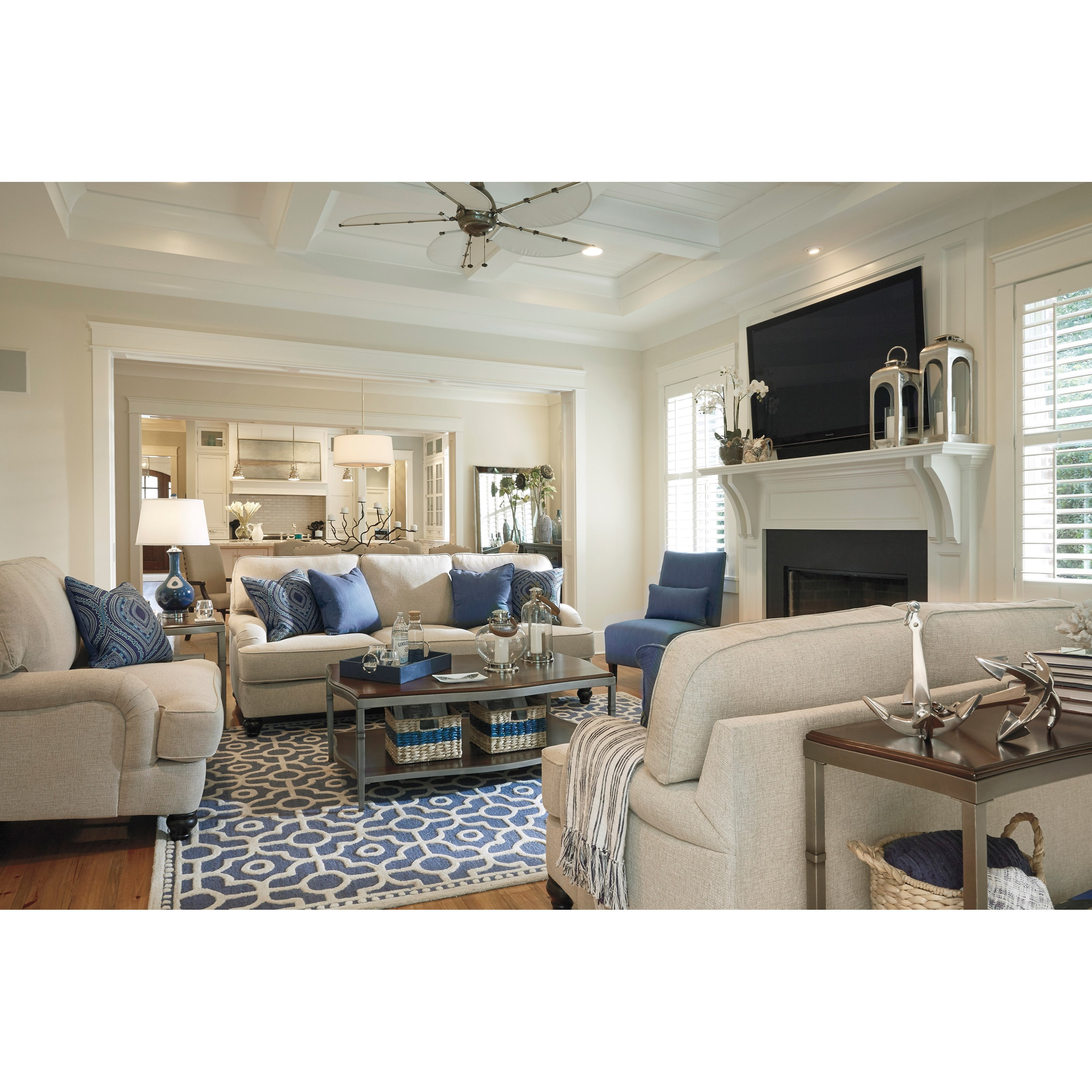 Millennium harahan stationary living room group john v for Living room furniture groups
