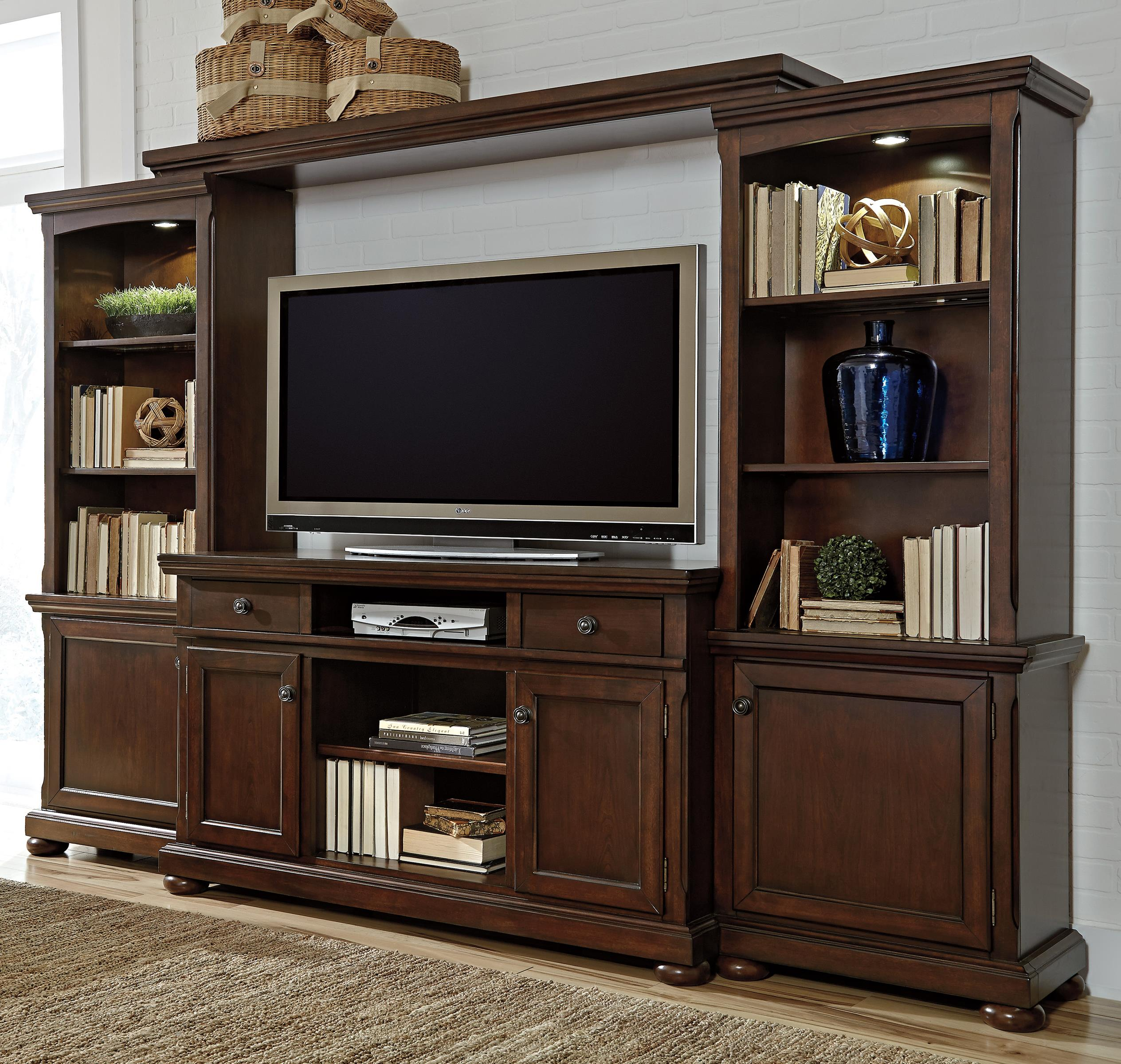 Millennium porter entertainment wall unit w extra large for Large tv wall units