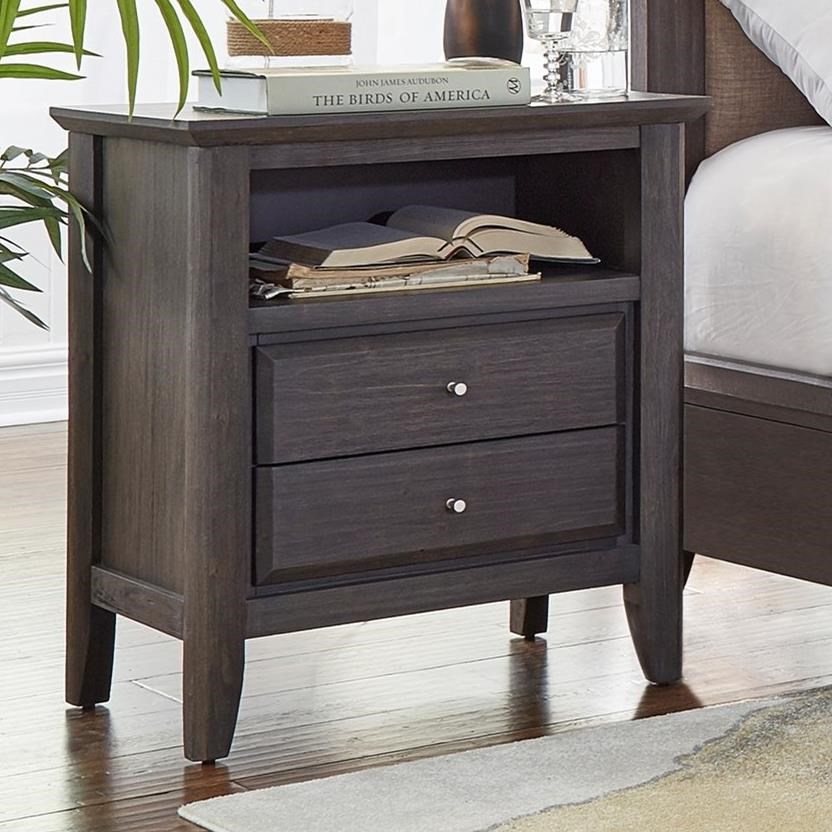 Modus International City Ii 2 Drawer Nightstand Rife 39 S Home Furniture Night Stands