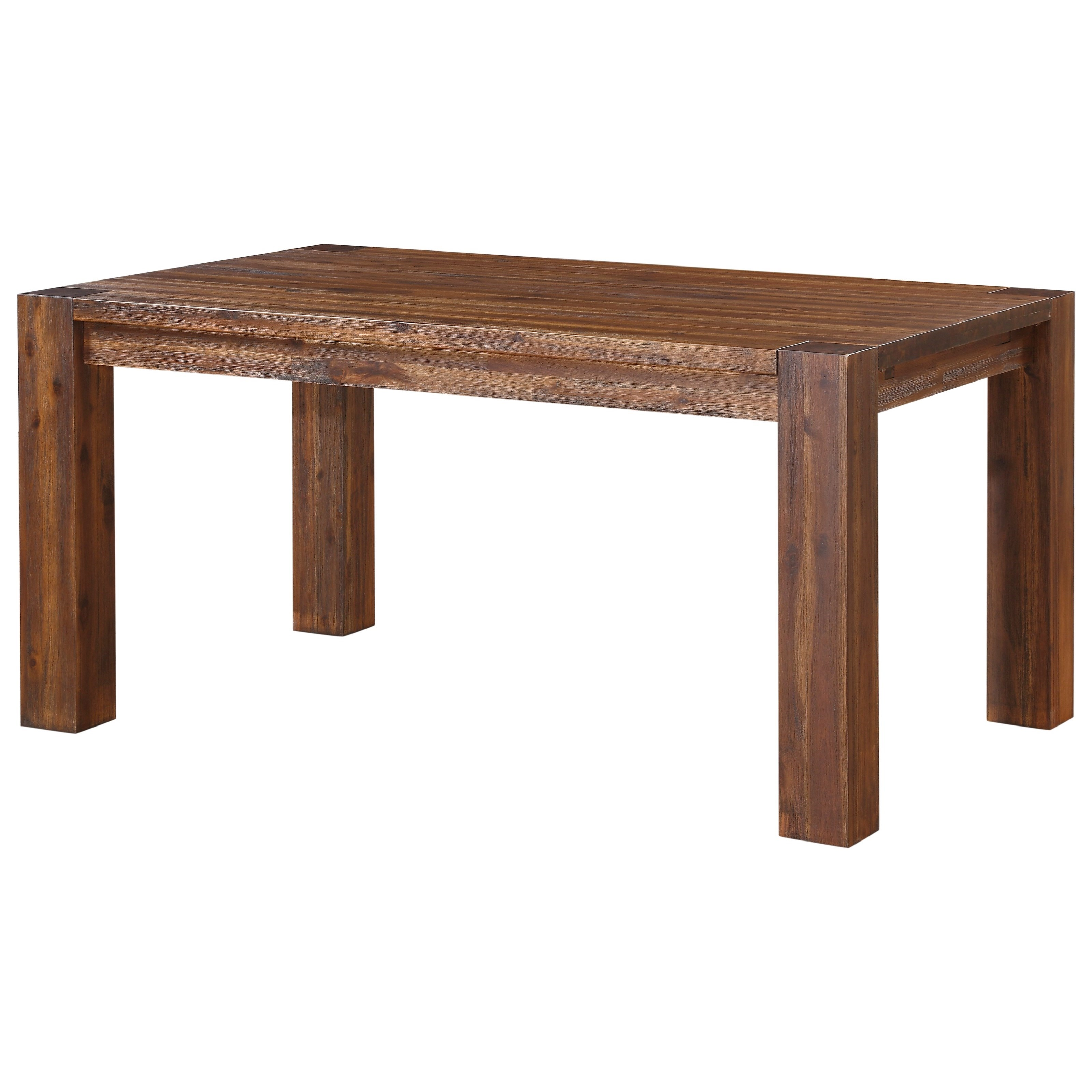 Modus international meadow dining rectangle dining table for Rectangular dining room tables with leaves