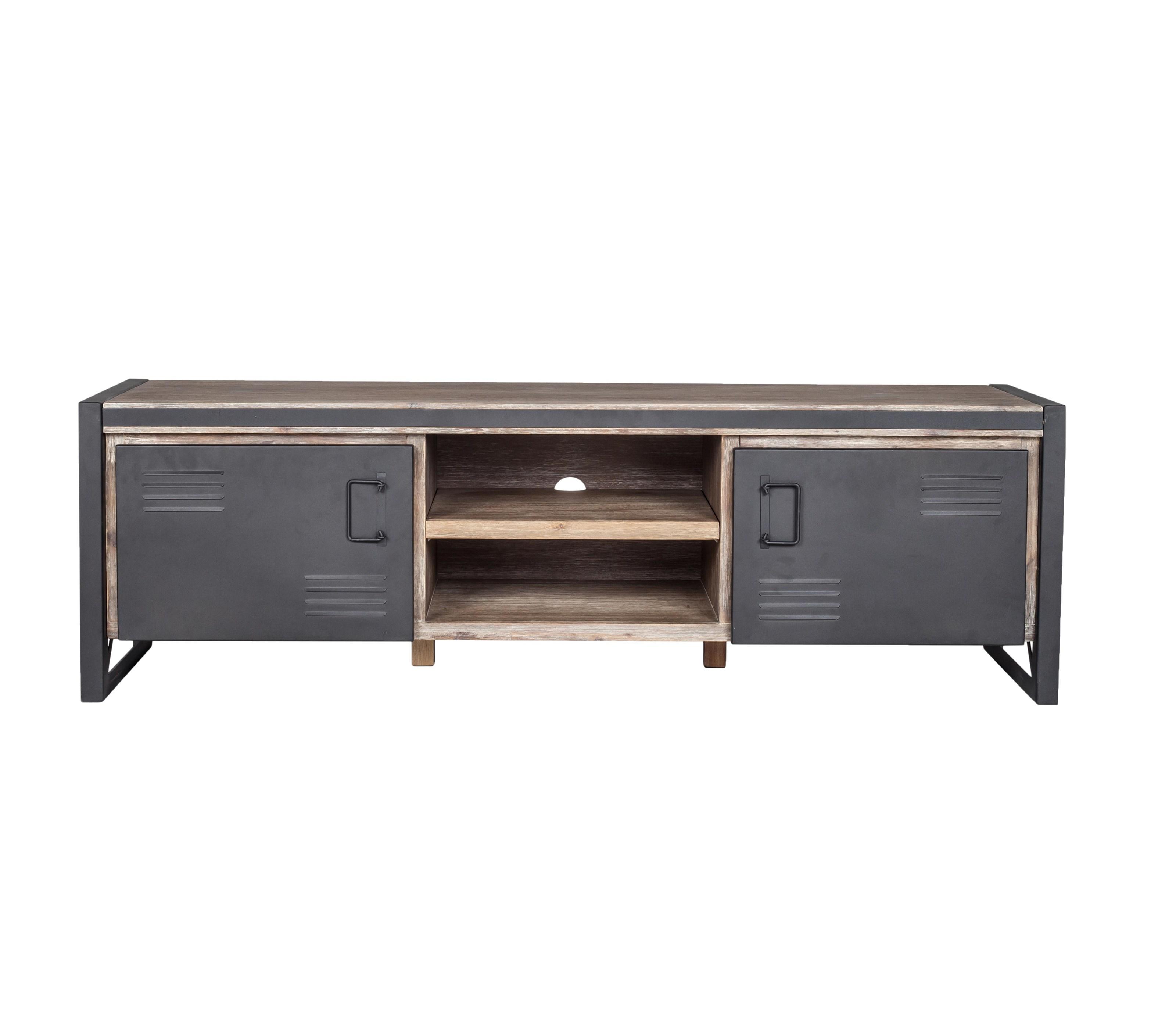 moe 39 s home collection bronx industrial tv unit stoney. Black Bedroom Furniture Sets. Home Design Ideas