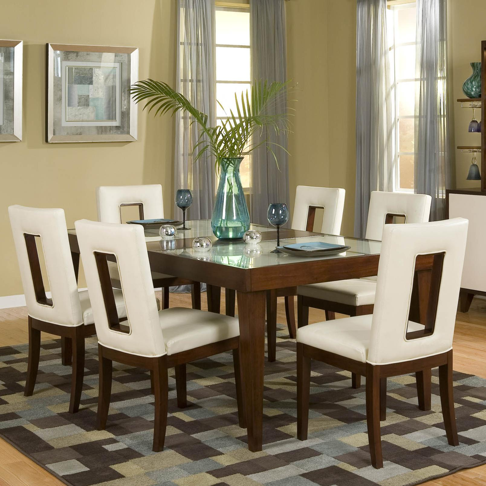 najarian enzo dining 7 piece table and chair set michael 39 s furniture warehouse dining 7 or. Black Bedroom Furniture Sets. Home Design Ideas