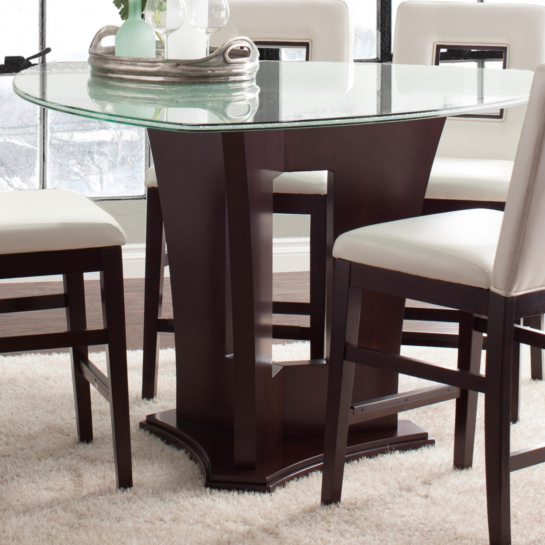 Najarian soho counter height dining table with crackled for Best dining room table height