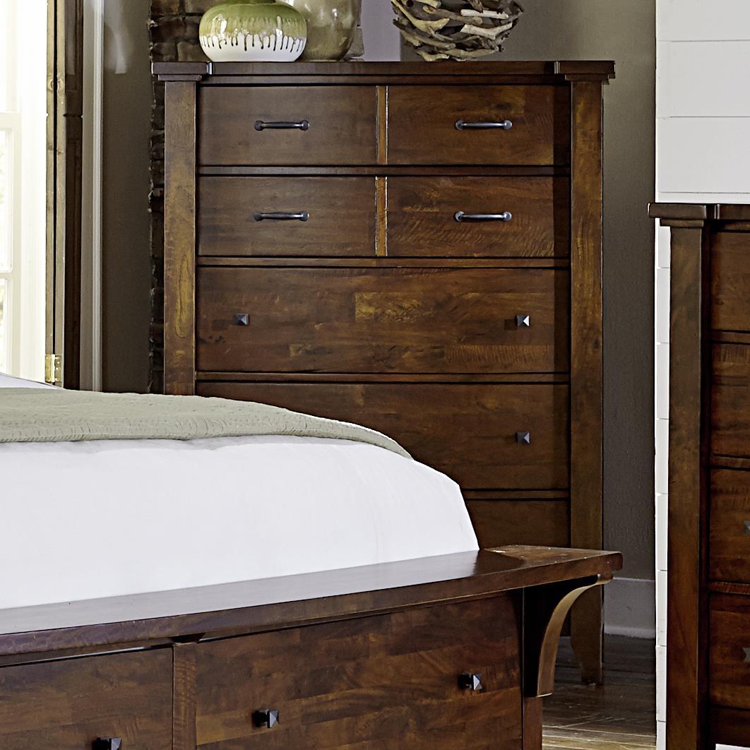 Napa furniture designs whistler retreat solid mango 5 drawer chest darvin furniture drawer for Napa valley bedroom furniture
