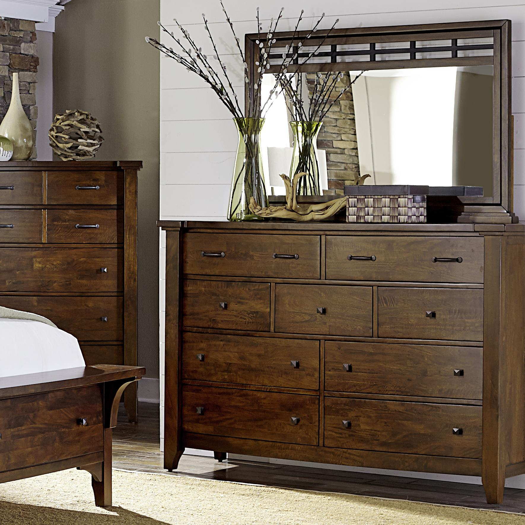 Napa furniture designs whistler retreat solid mango 9 drawer chest mirror darvin furniture for Napa valley bedroom furniture