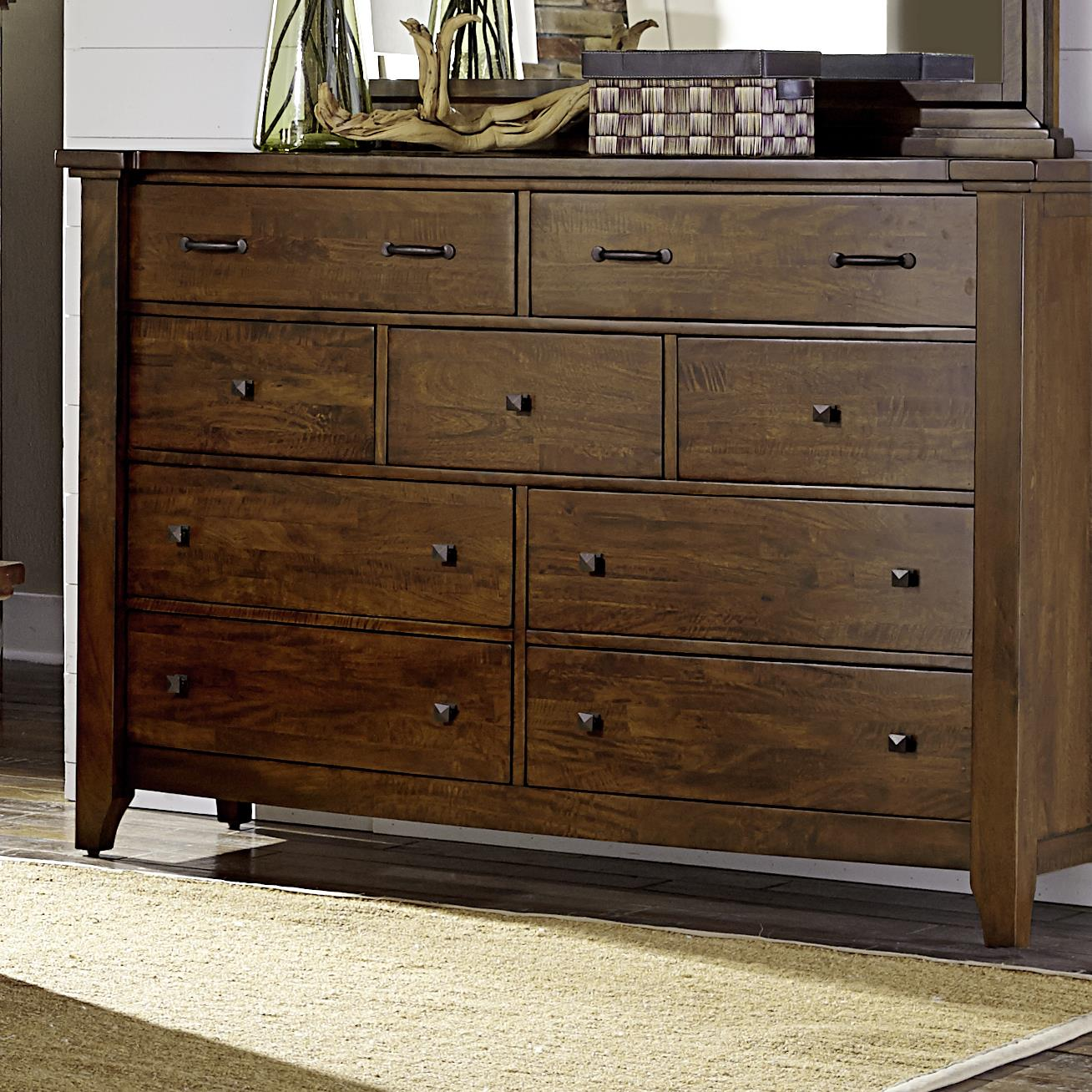 Napa furniture designs whistler retreat solid mango 9 drawer chest darvin furniture dressers for Napa valley bedroom furniture