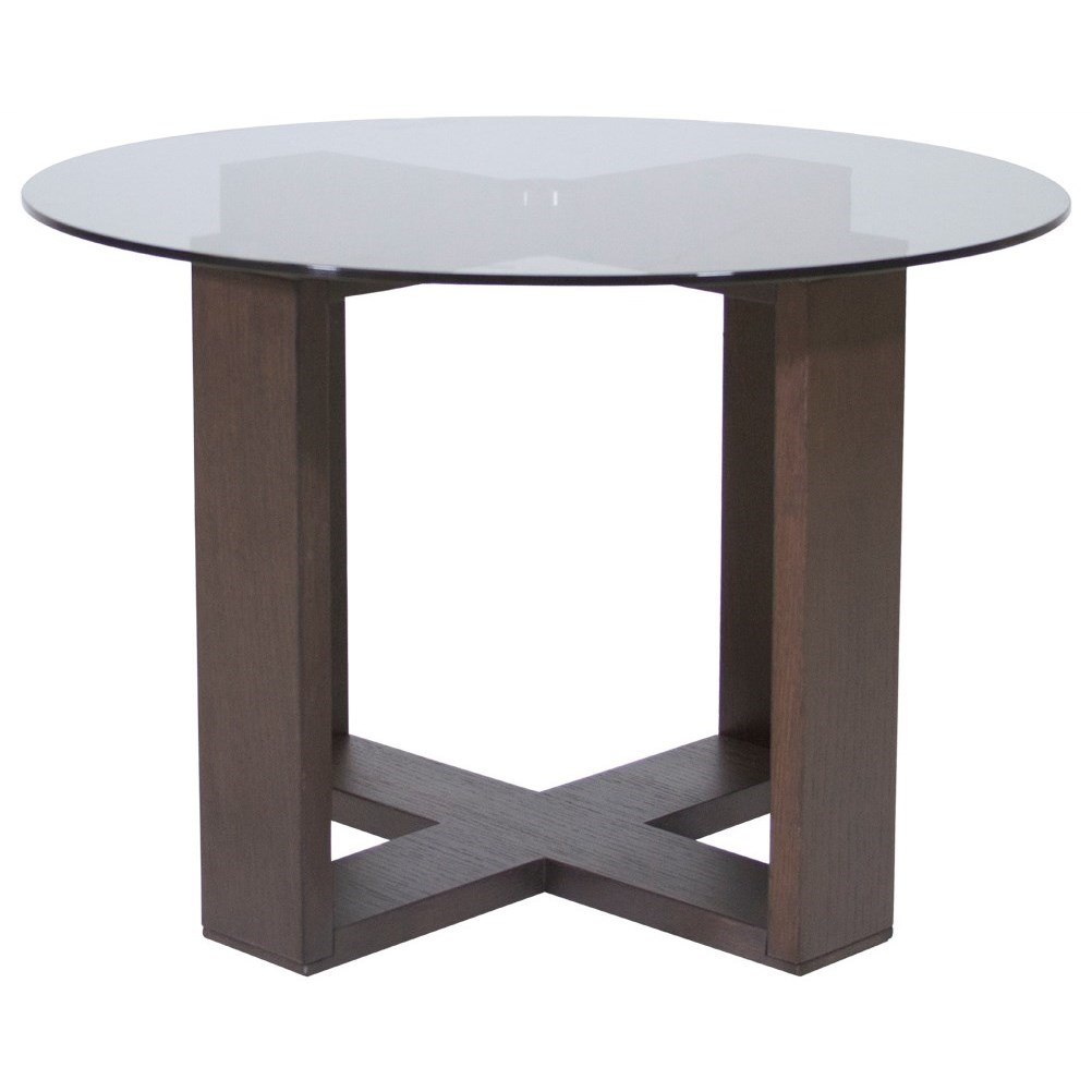 Natuzzi editions amarone t153lr0 round corner table with for Corner side table