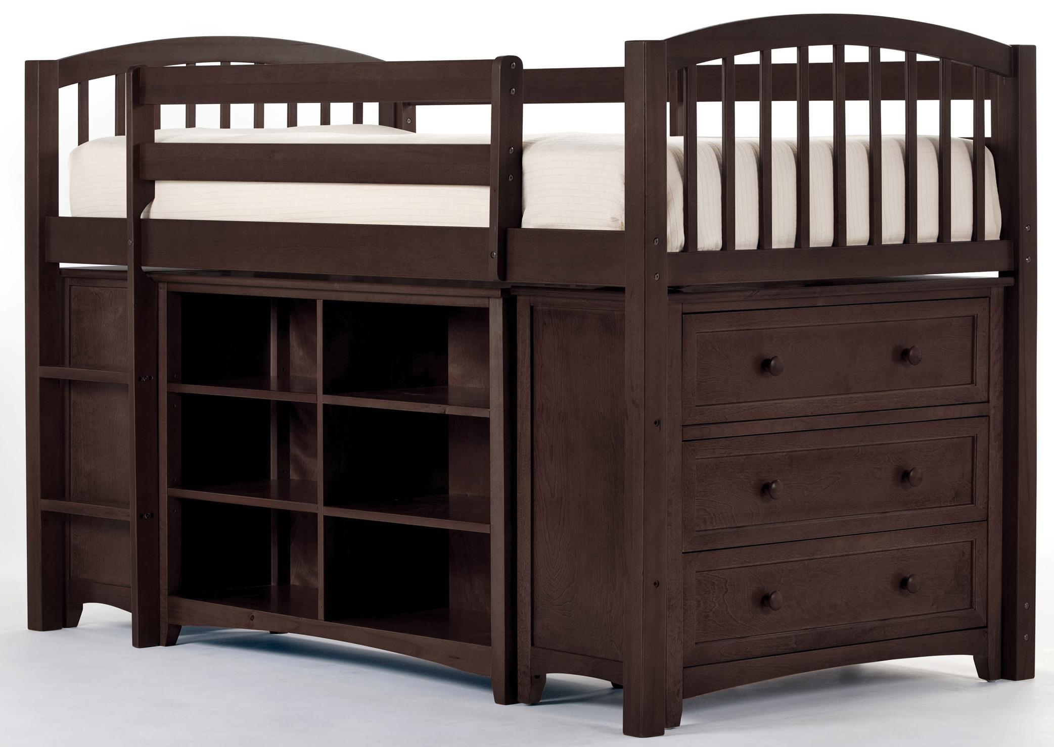 Ne Kids School House Junior Loft Bed W Chest And Shelves