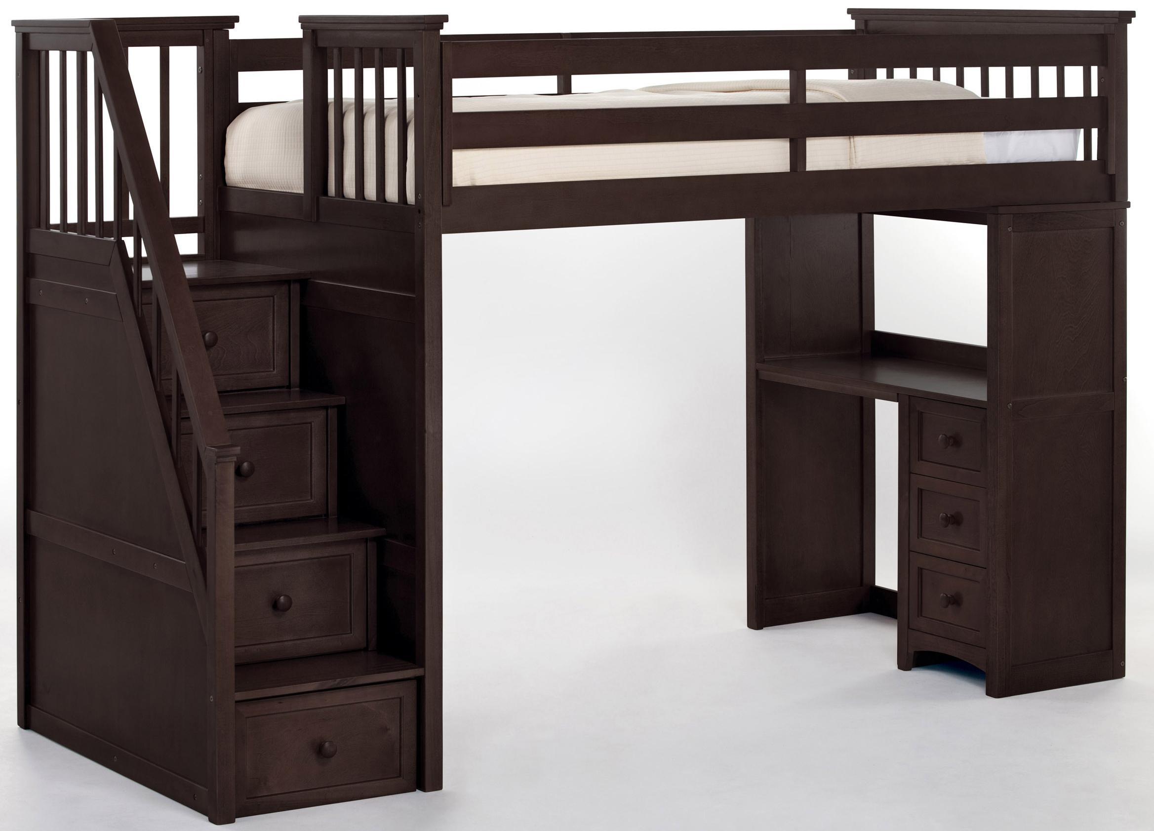 Ne Kids School House 5090nl Stair Loft Bed W Desk Dunk