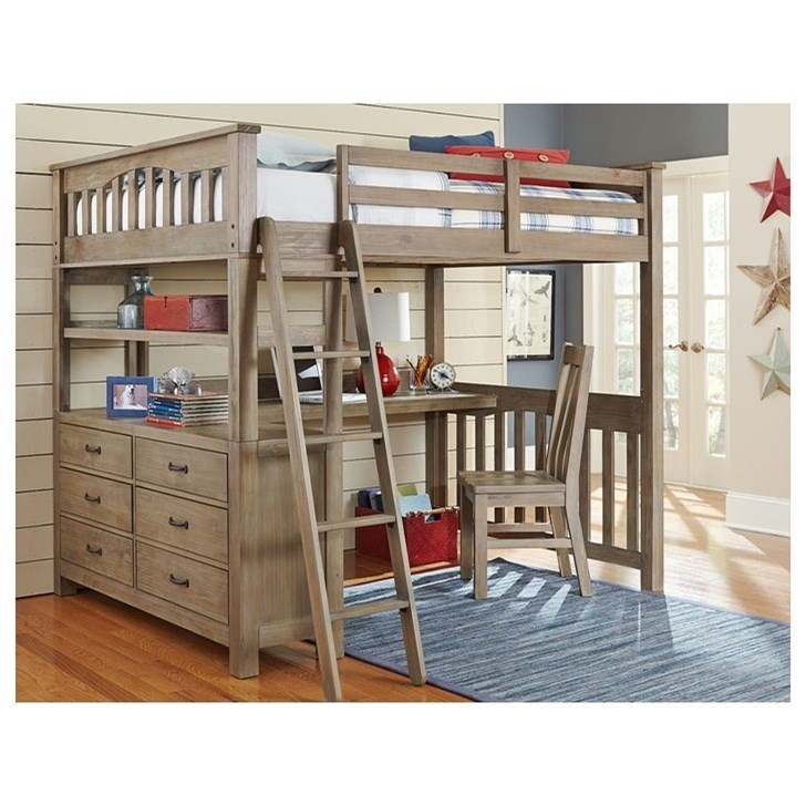 Ne Kids Highlands Mission Style Full Bed With Desk
