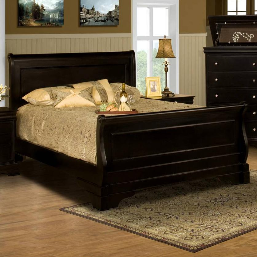 New Classic Belle Rose Queen Sleigh Bed Knight Furniture