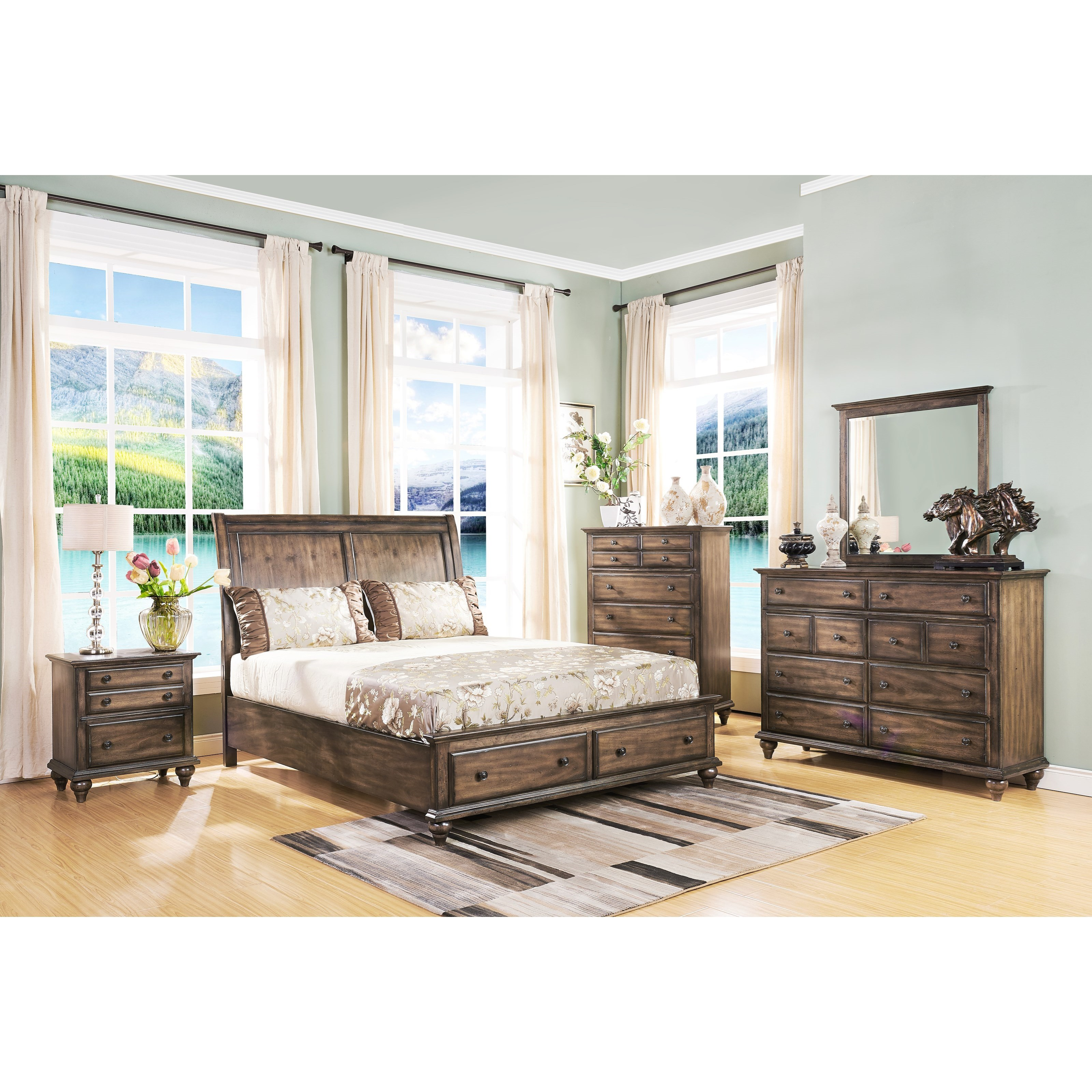New Classic Fallbrook Dresser Mirror With Beveled Glass And Wood Frame Miskelly Furniture
