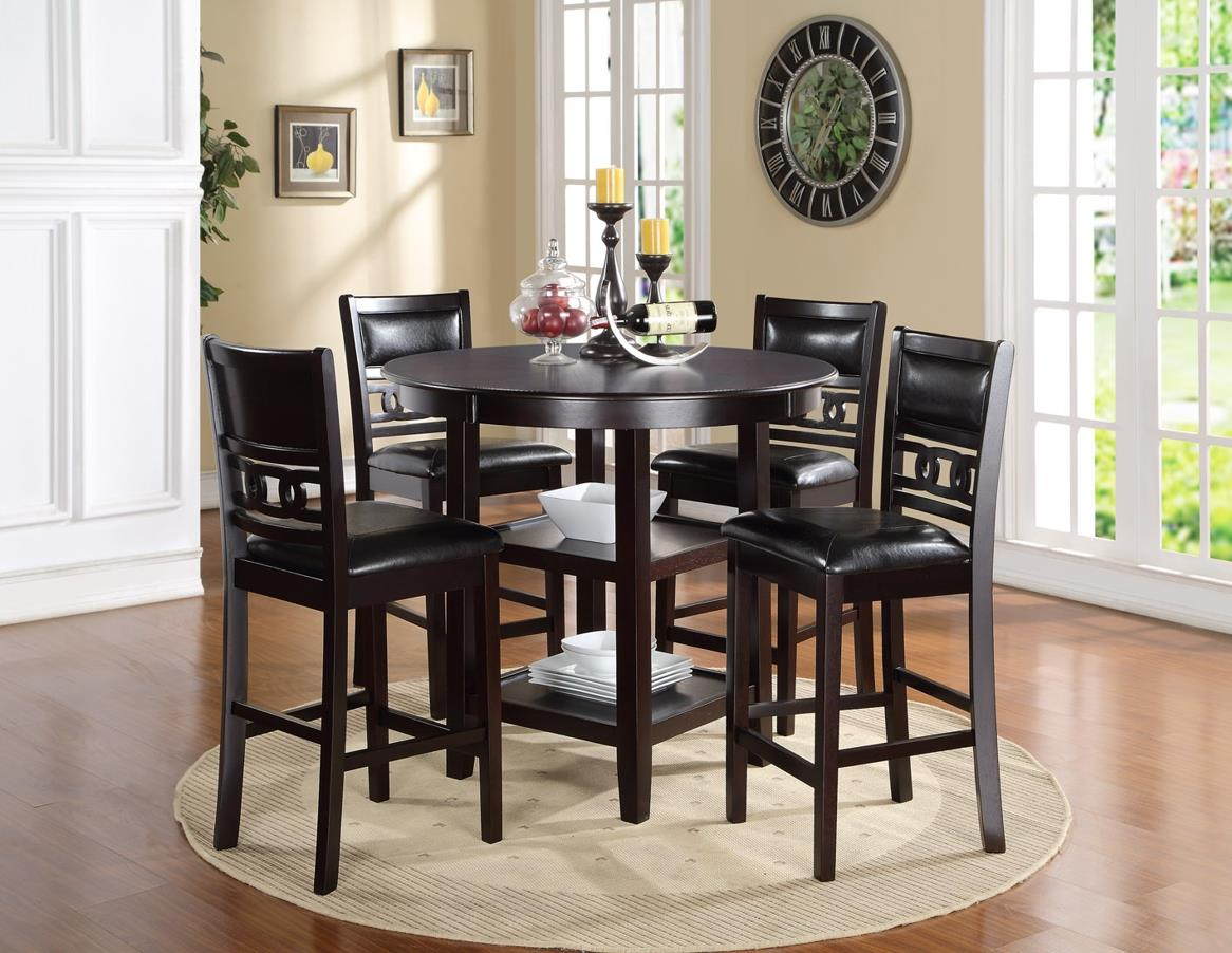 new classic gia d1701 52s counter height dining table and chair set with 4 chairs and circle. Black Bedroom Furniture Sets. Home Design Ideas