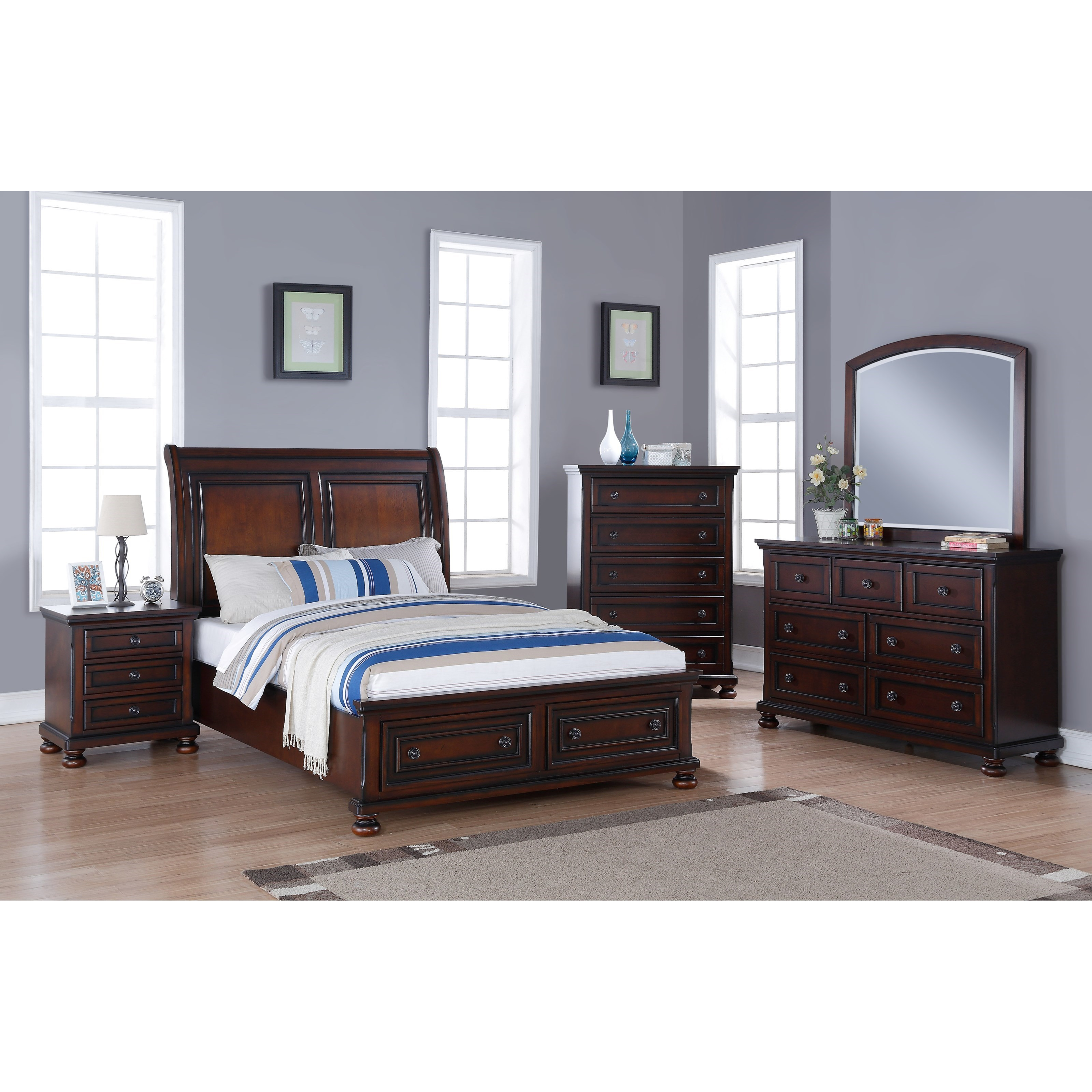 New Classic Jesse California King Low Profile Storage Bed