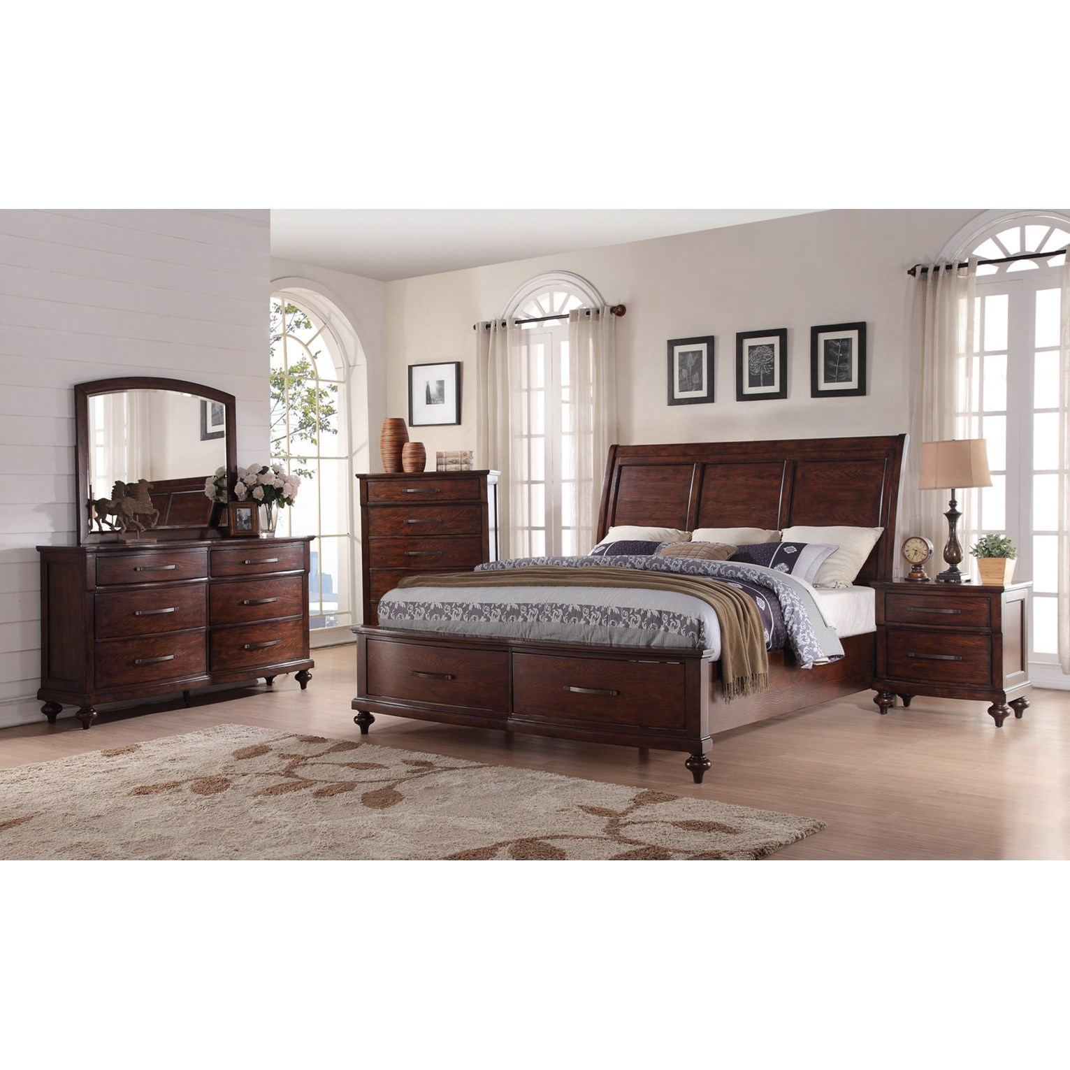 New Classic La Jolla Queen Storage Bed With Panel Headboard Dream Home Furniture Headboard