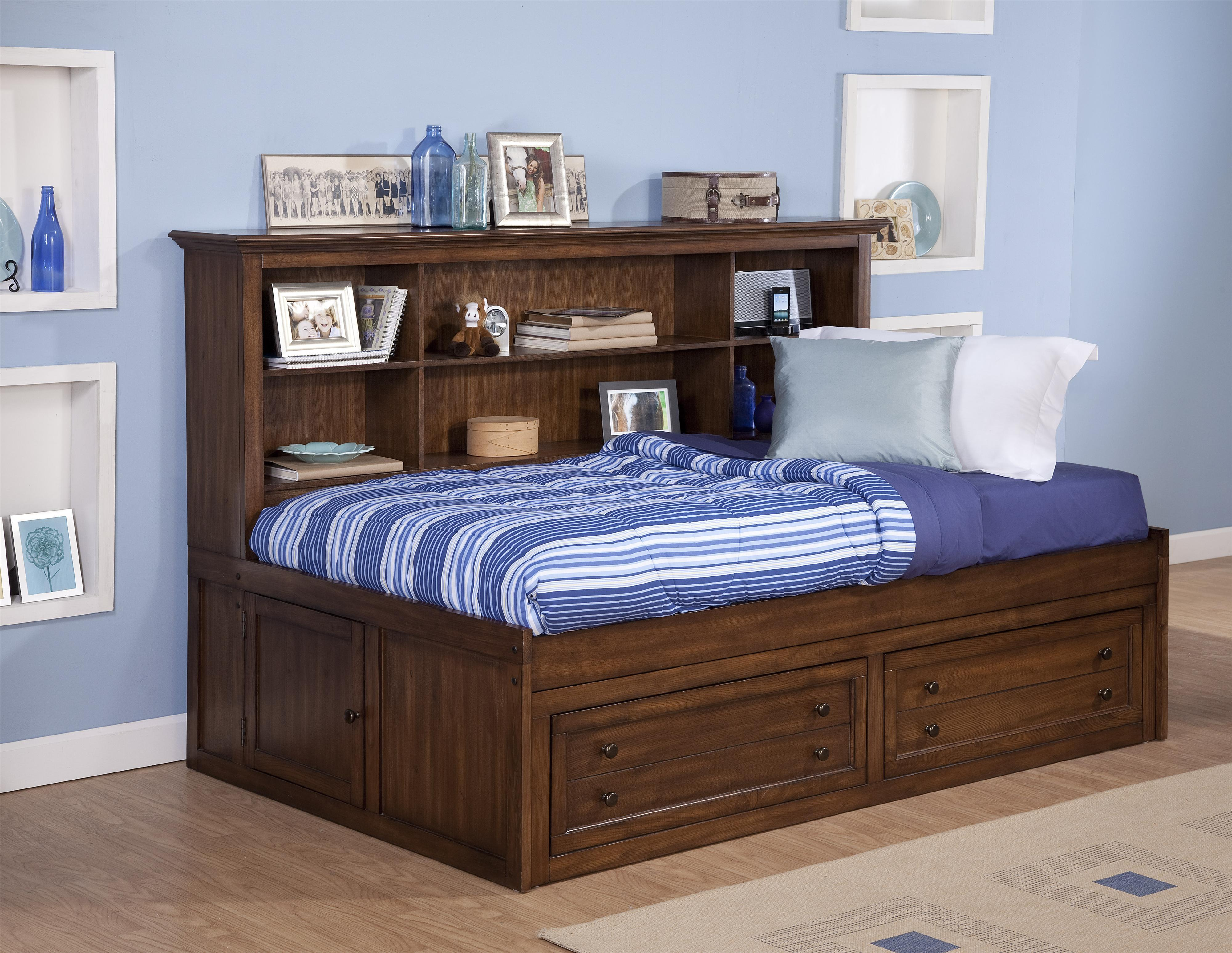 New classic logan full size storage daybed with bookcase Full size daybed with storage