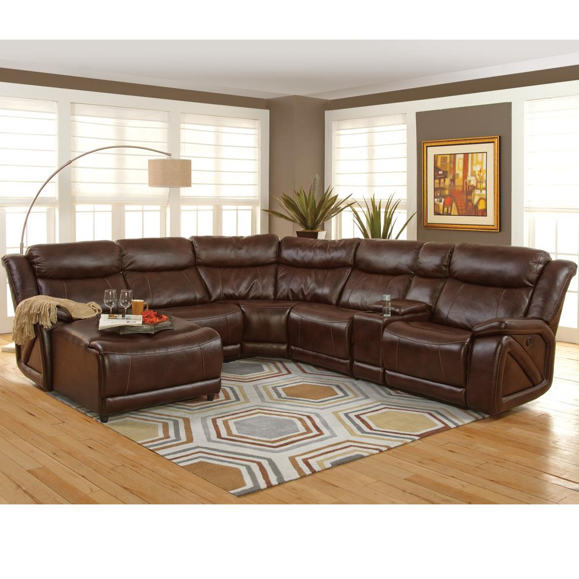 New classic park place casual sectional with chaise and for Chaise 2 places