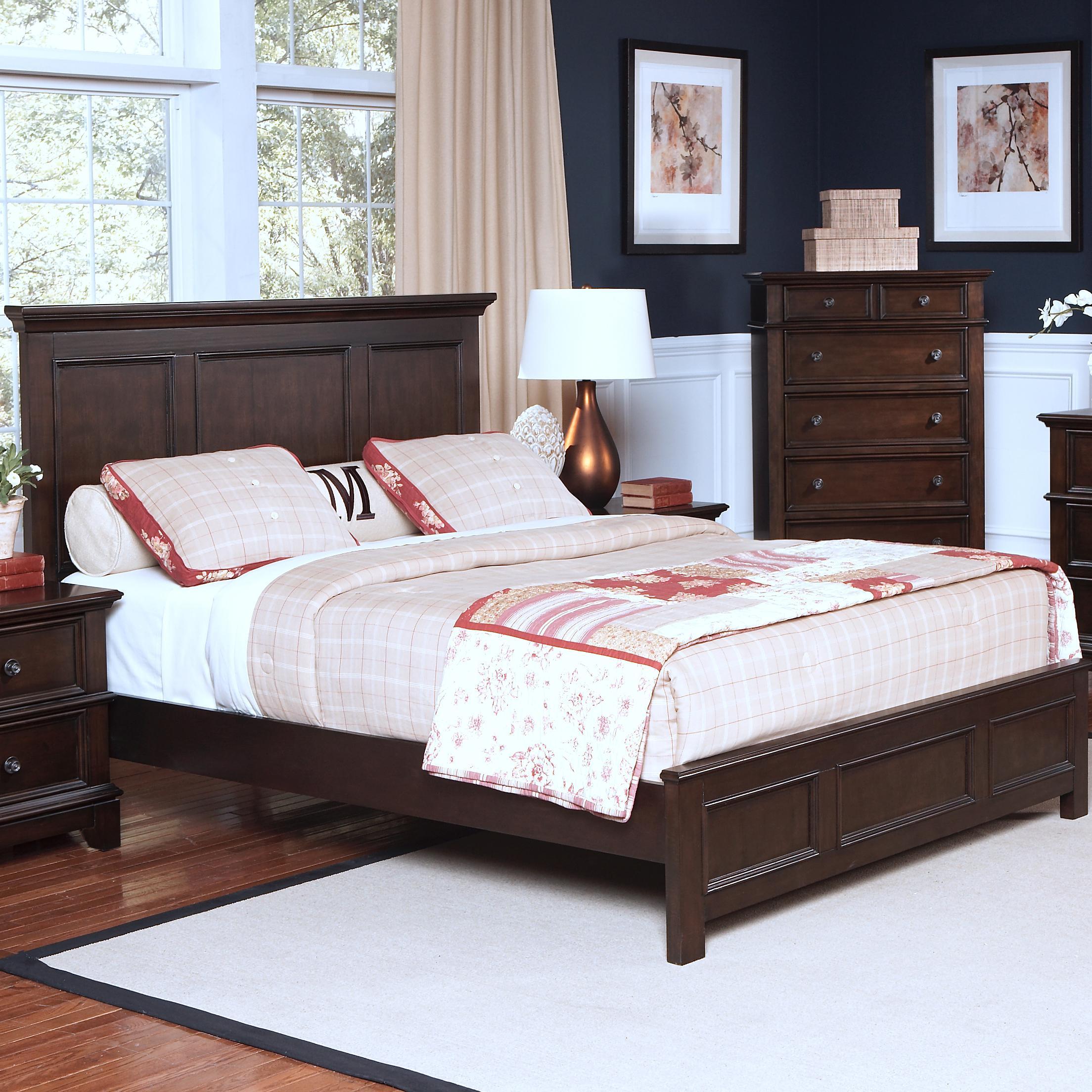 new classic prescott king headboard and footboard bed del sol furniture panel beds. Black Bedroom Furniture Sets. Home Design Ideas