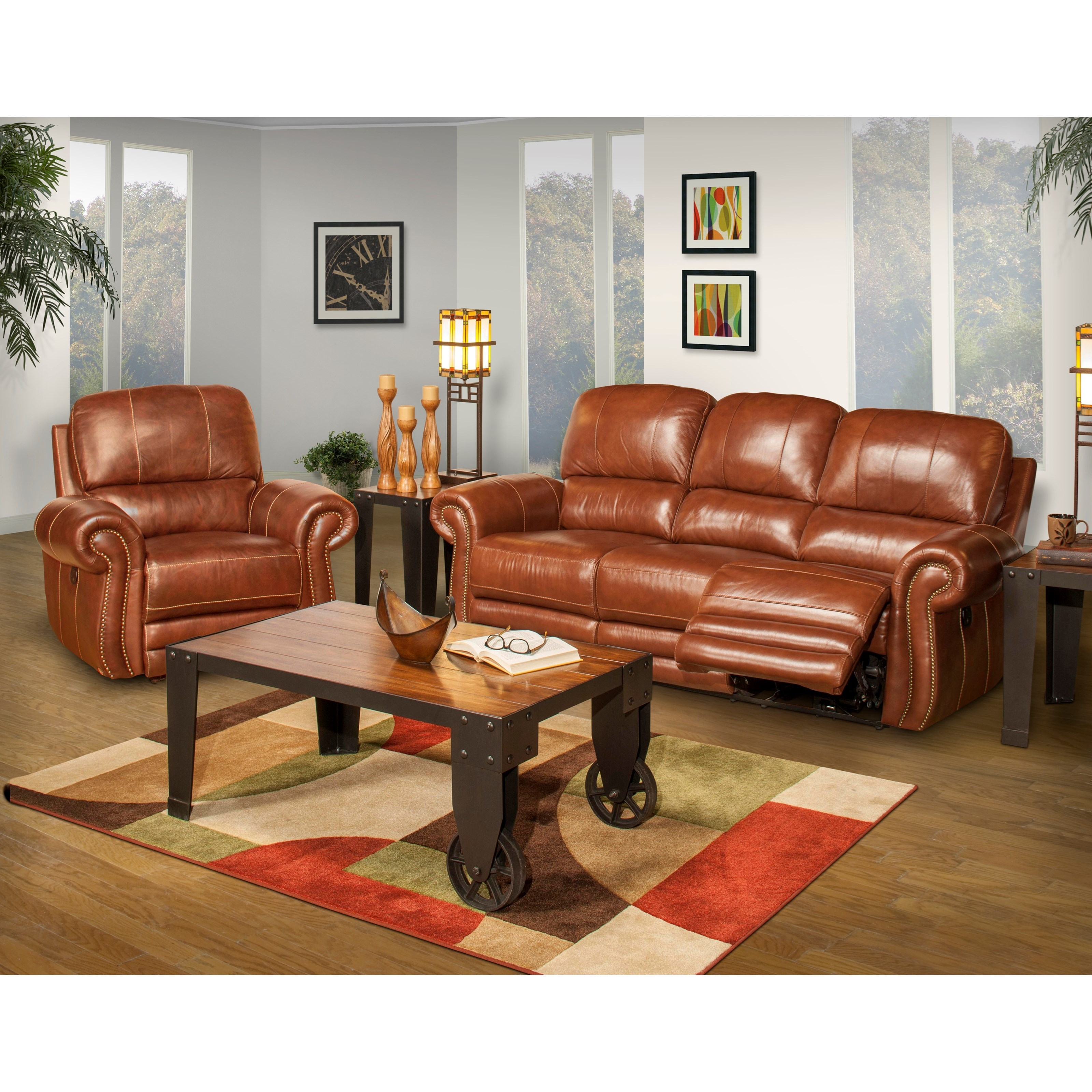 New classic rossi power reclining living room group for Living room furniture groups