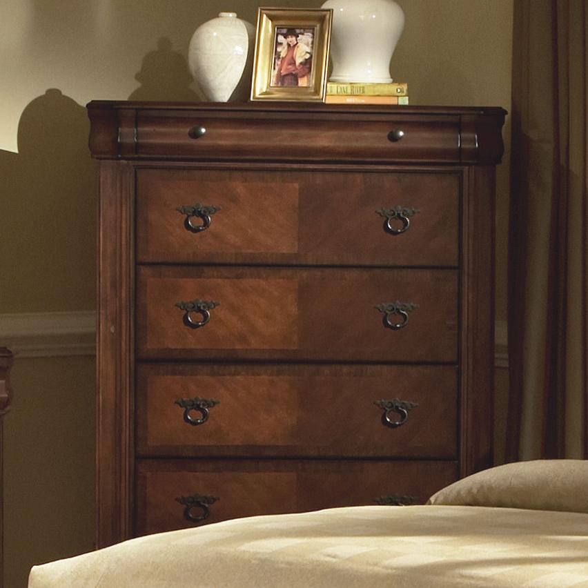New classic sheridan chest w 6 drawers royal furniture for Bedroom furniture 37027