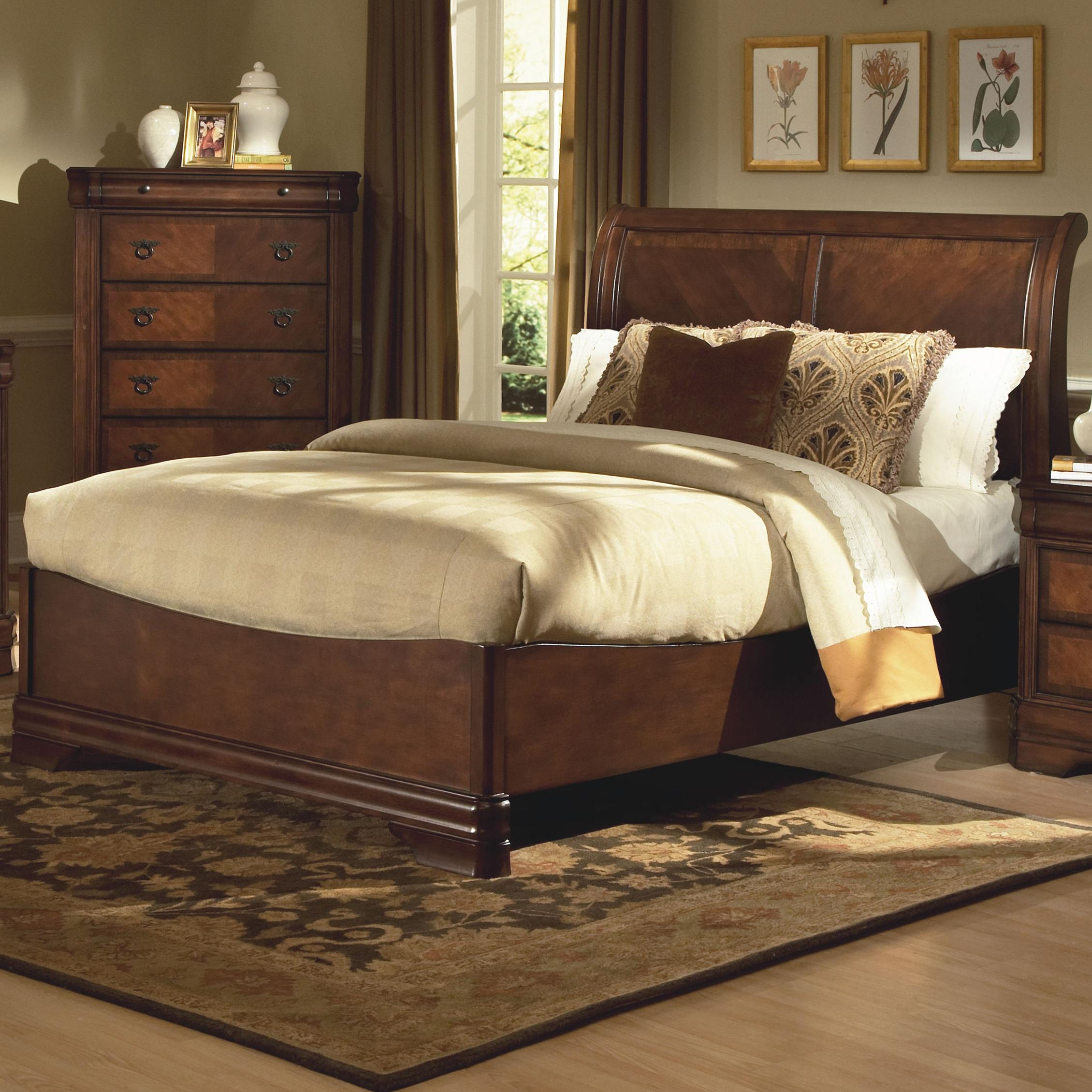 New Classic Sheridan Queen Bed W Sleigh Headboard Great American Home Store Headboard