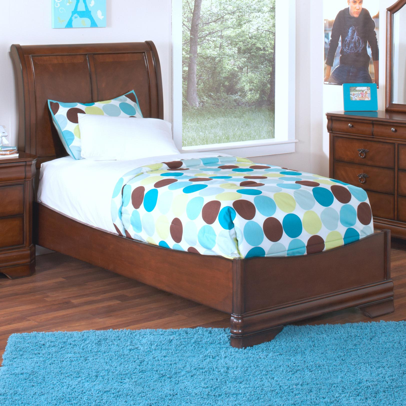 New classic sheridan twin youth panel bed royal for Bedroom furniture 37027