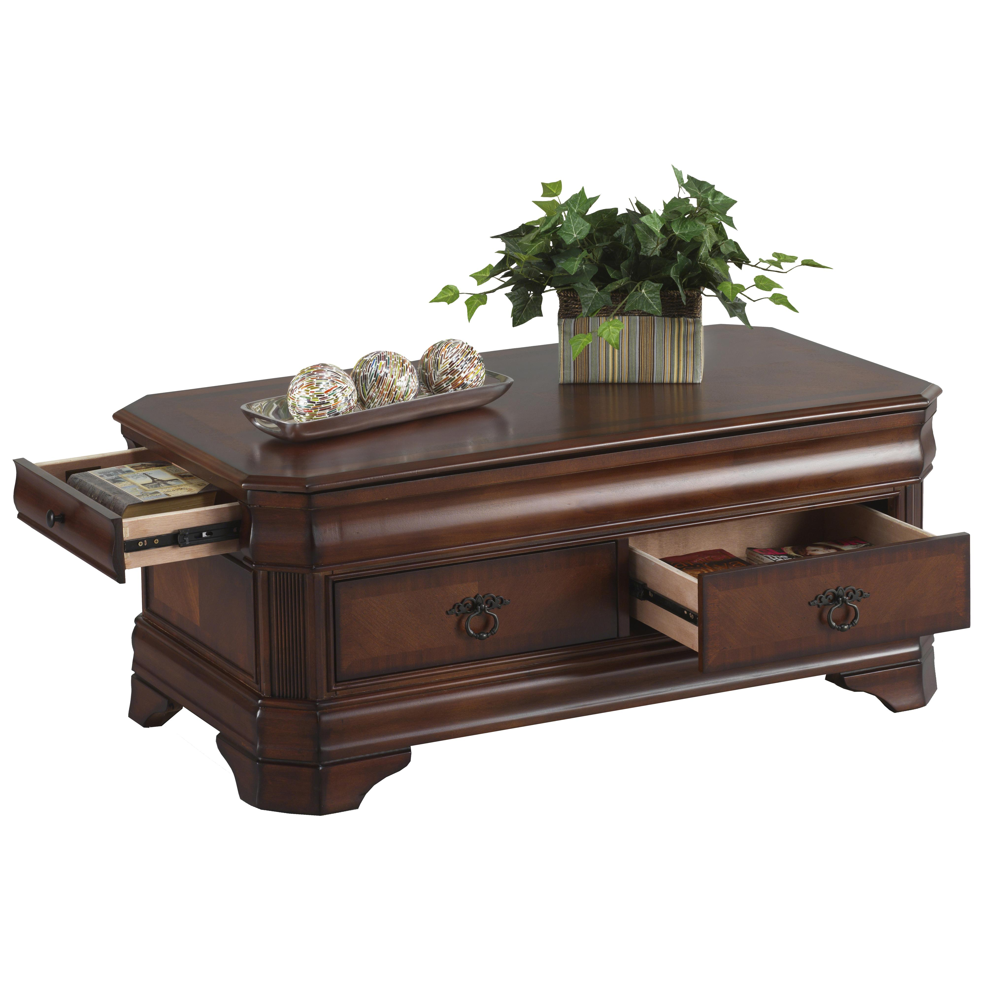 New Classic Sheridan Lift Top Cocktail Storage Table With Four Drawers Royal Furniture