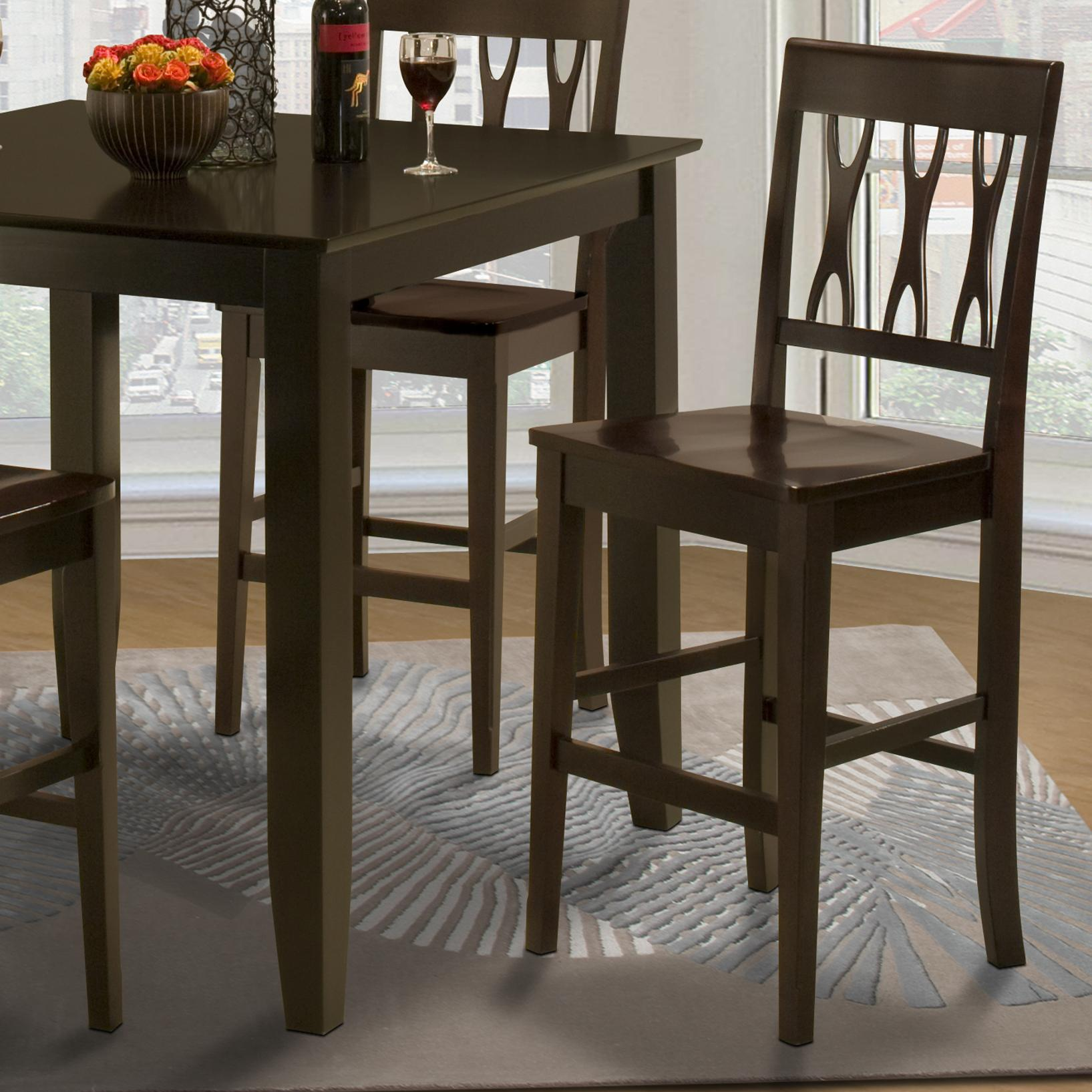 new classic style 19 04 0605 020 abbie all wood counter height chair del sol furniture bar. Black Bedroom Furniture Sets. Home Design Ideas