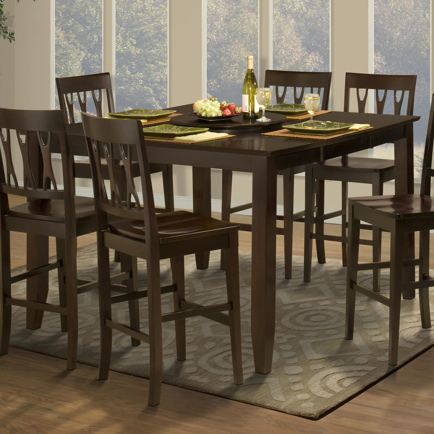New classic style 19 counter height dining table with for New style dining table