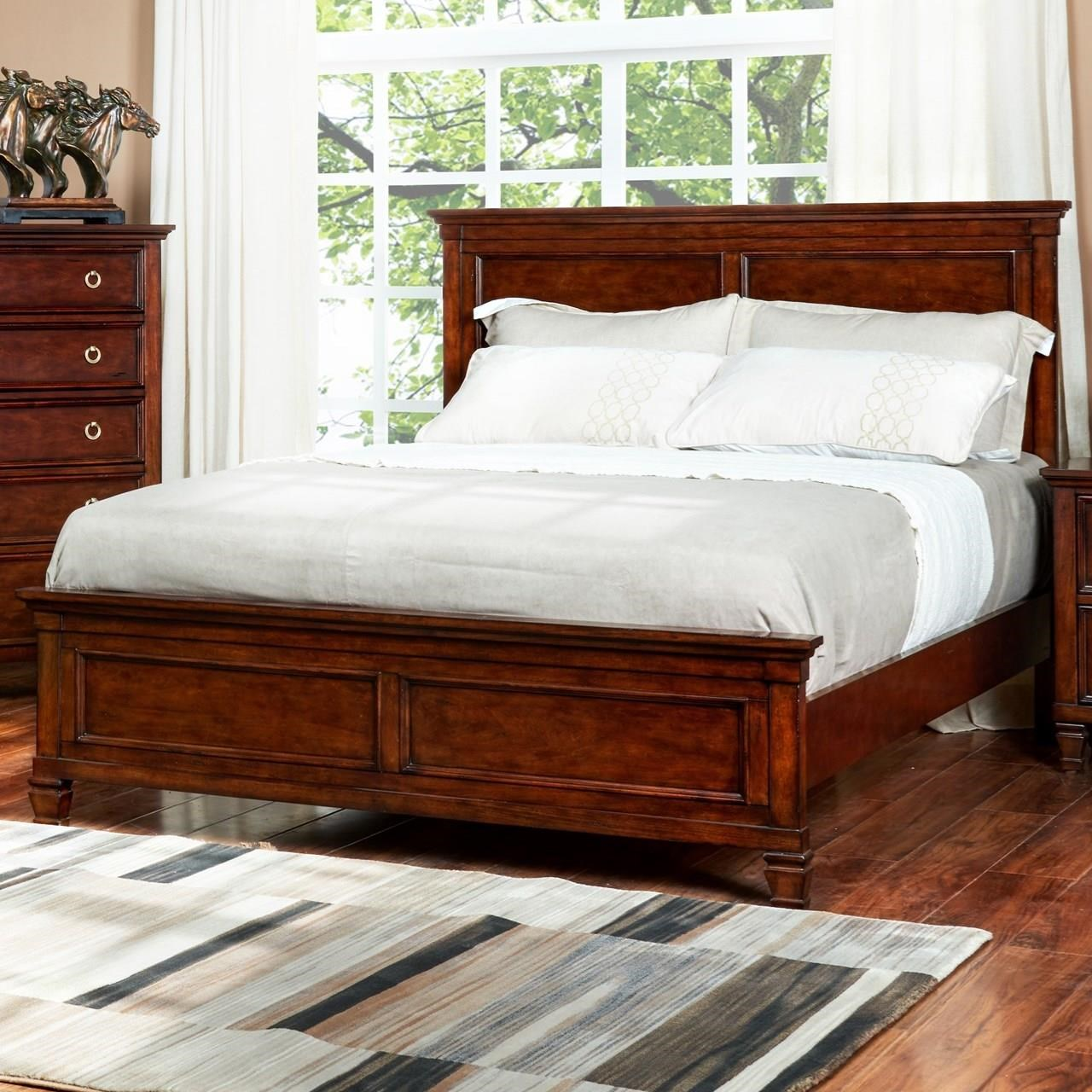 New classic tamarack queen panel headboard and footboard for American furniture bed frames